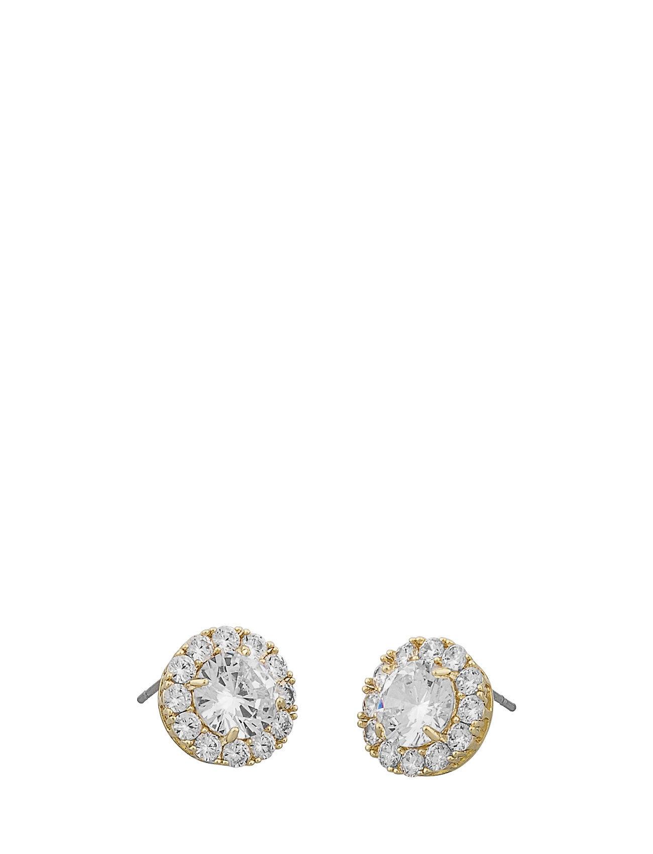 SNÖ of Sweden Lex St Ear G/Clear Accessories Jewellery Earrings Studs Kulta SNÖ Of Sweden