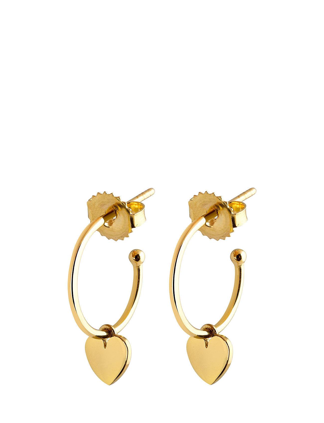 SOPHIE by SOPHIE Mini Hoops Heart Accessories Jewellery Earrings Hoops Kulta SOPHIE By SOPHIE