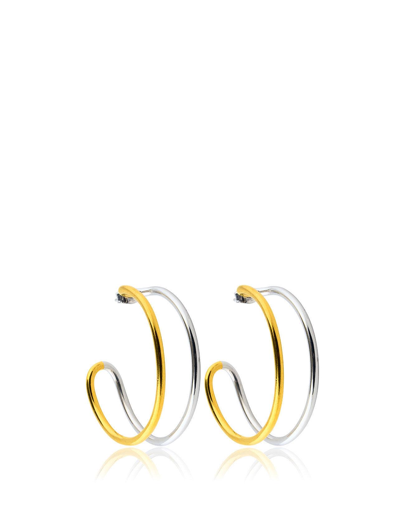SOPHIE by SOPHIE Two T Hoops M Accessories Jewellery Earrings Hoops Kulta SOPHIE By SOPHIE