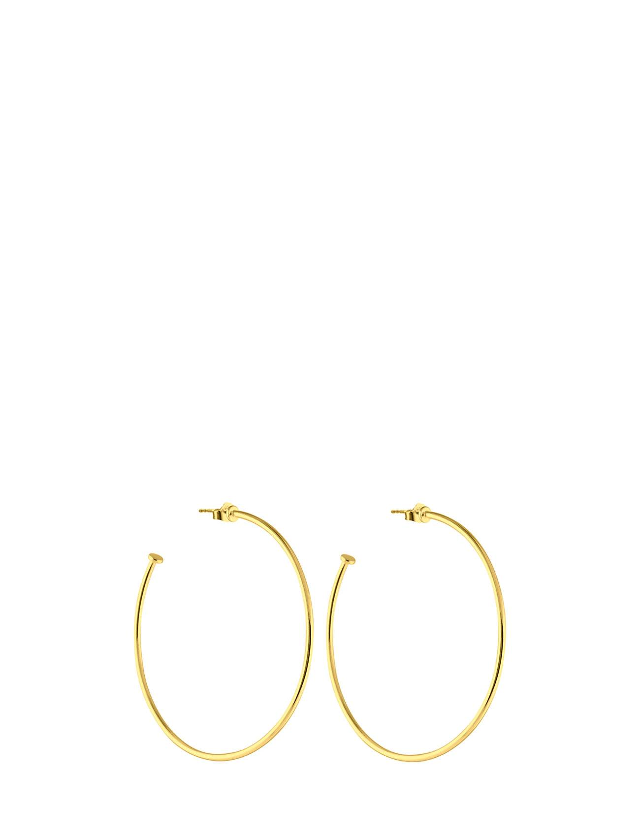 SOPHIE by SOPHIE Hoops Plate Large Accessories Jewellery Earrings Studs Kulta SOPHIE By SOPHIE