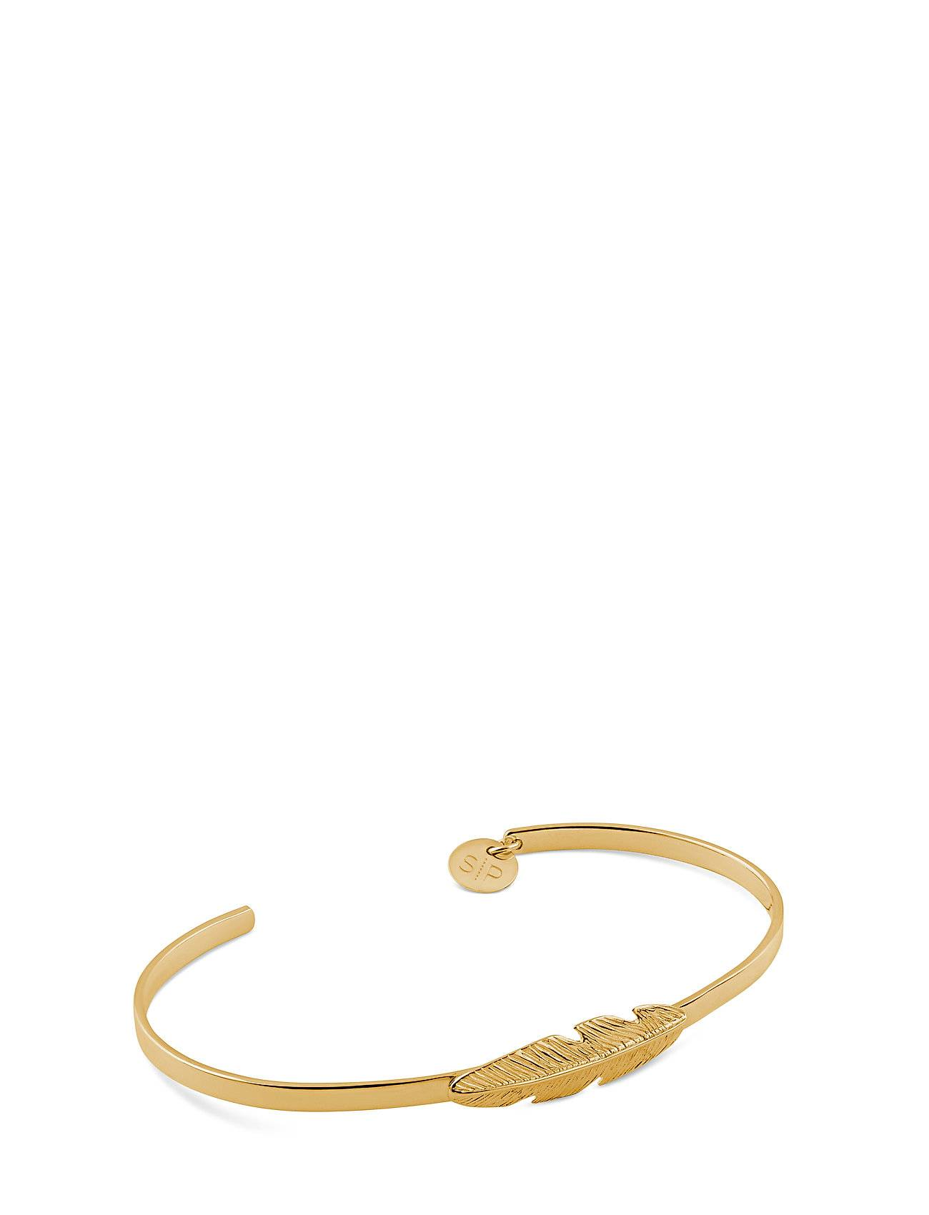 Syster P Feather Bangle Gold Accessories Jewellery Bracelets Bangles Kulta Syster P