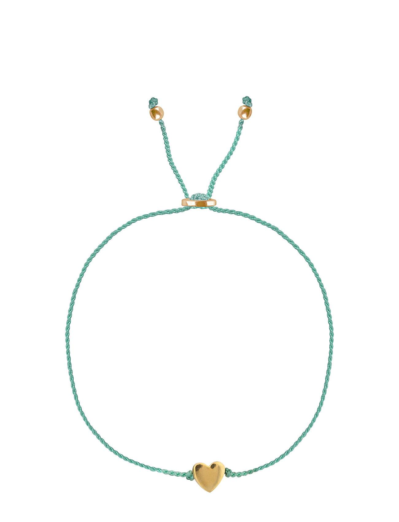 Syster P Sparkle Bracelet Heart Gold Aqua Accessories Jewellery Bracelets Chain Bracelets Sininen Syster P