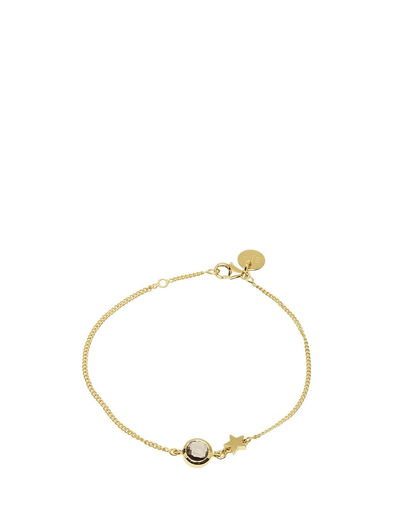 Syster P Priscilla Bracelet Gold Smokey Accessories Jewellery Bracelets Chain Bracelets Kulta Syster P