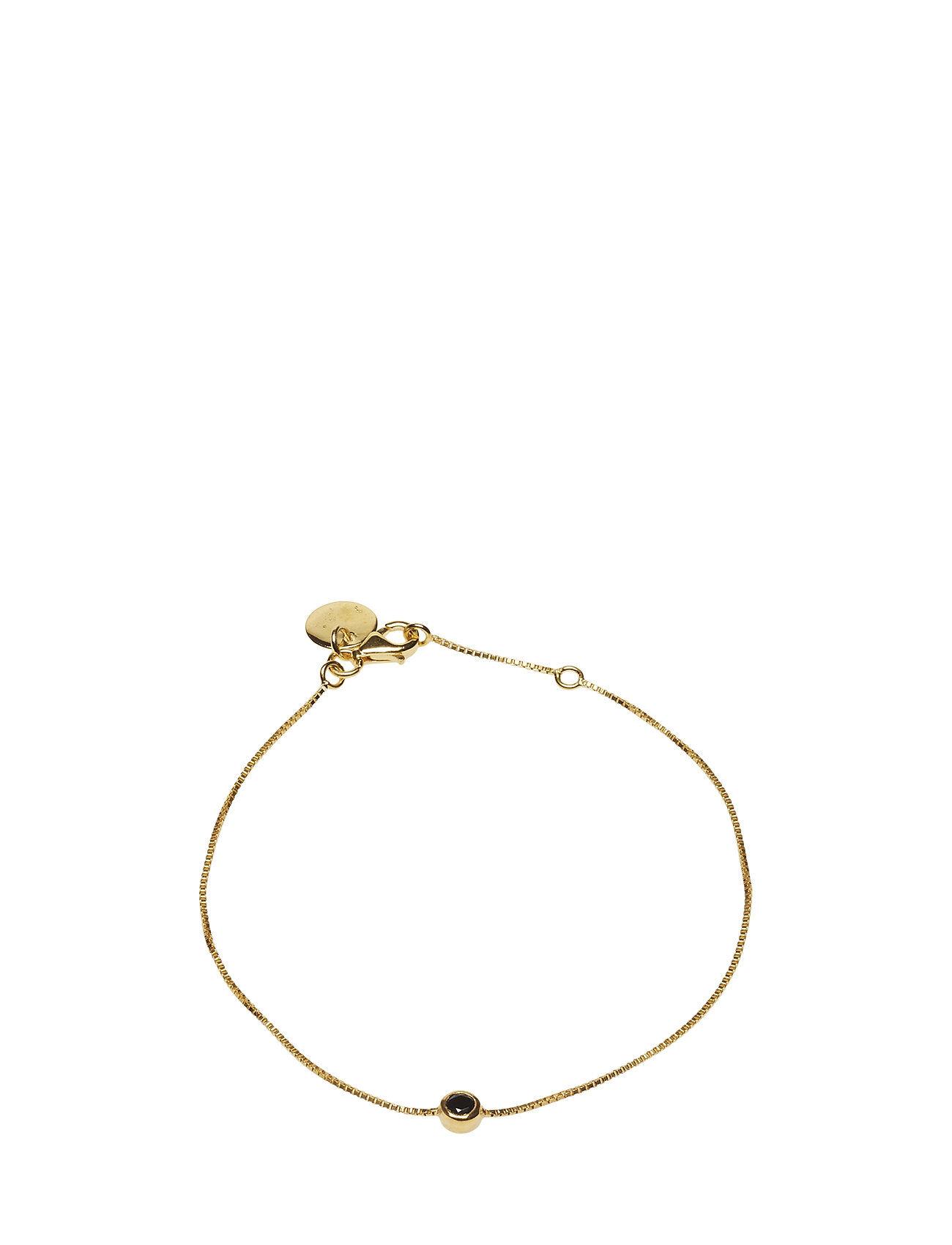 Syster P Minimalistica Solo Bracelet Gold Black Spinel Accessories Jewellery Bracelets Chain Bracelets Kulta Syster P