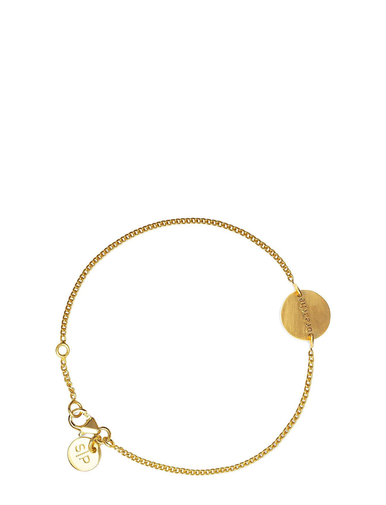 Syster P Minimalistica Breathe Bracelet Gold Accessories Jewellery Bracelets Chain Bracelets Kulta Syster P