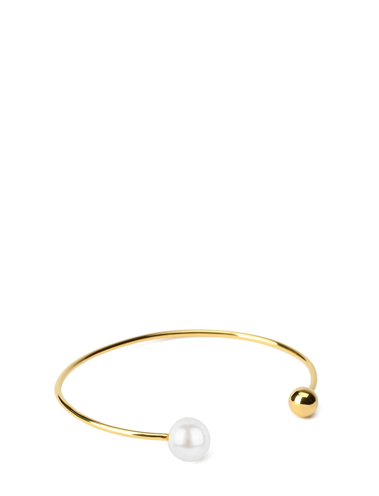 Syster P Pearly Double Pearl Bangle White Accessories Jewellery Bracelets Bangles Kulta Syster P