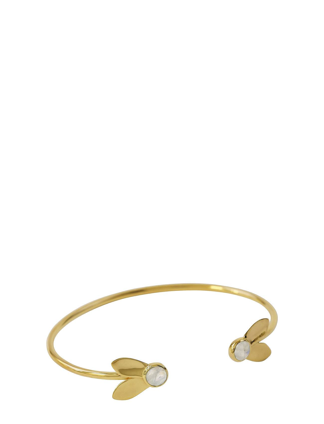 Syster P Flakes Bangle Gold Moonst Accessories Jewellery Bracelets Bangles Kulta Syster P