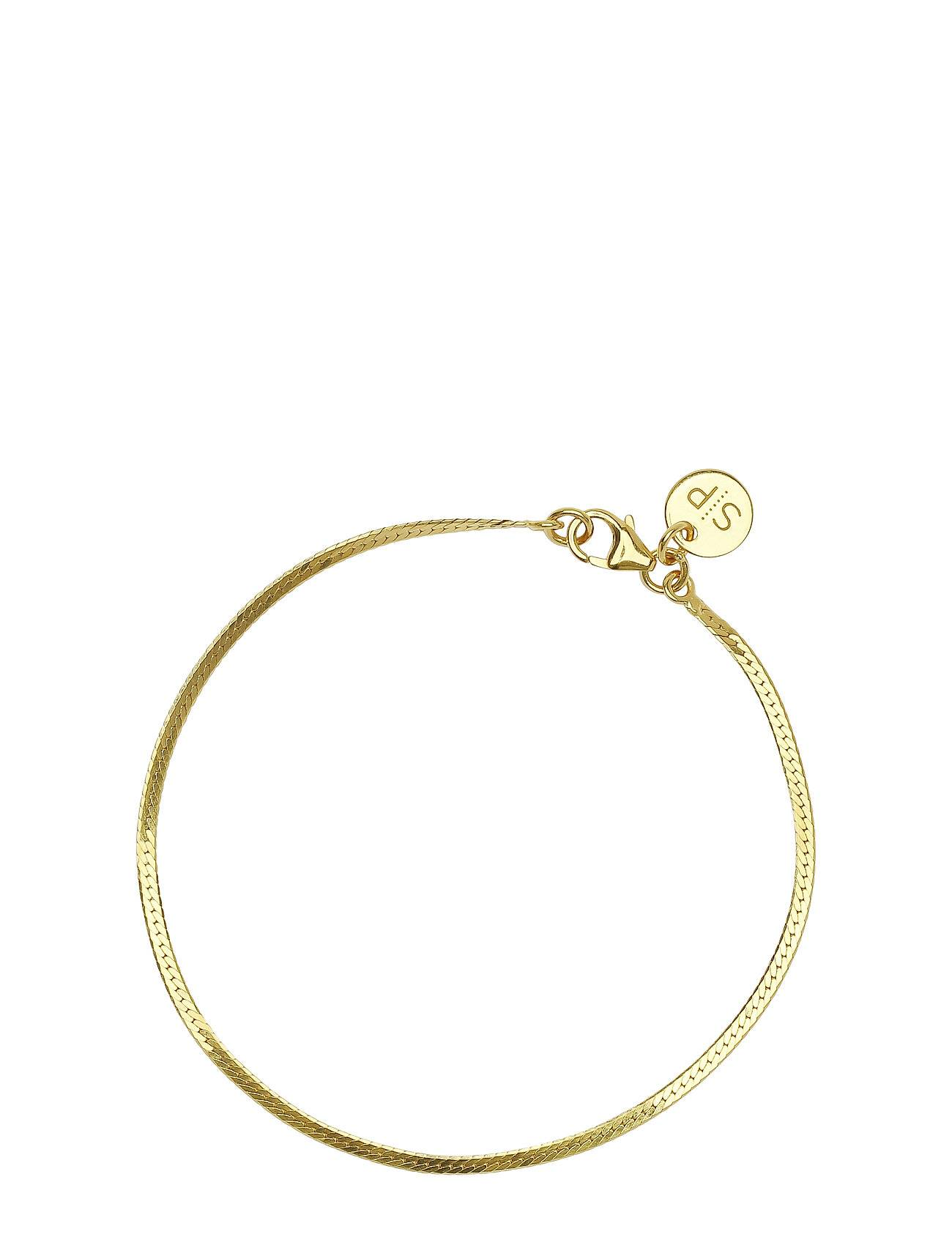 Syster P Herringb Bracelet Gold Accessories Jewellery Bracelets Chain Bracelets Kulta Syster P