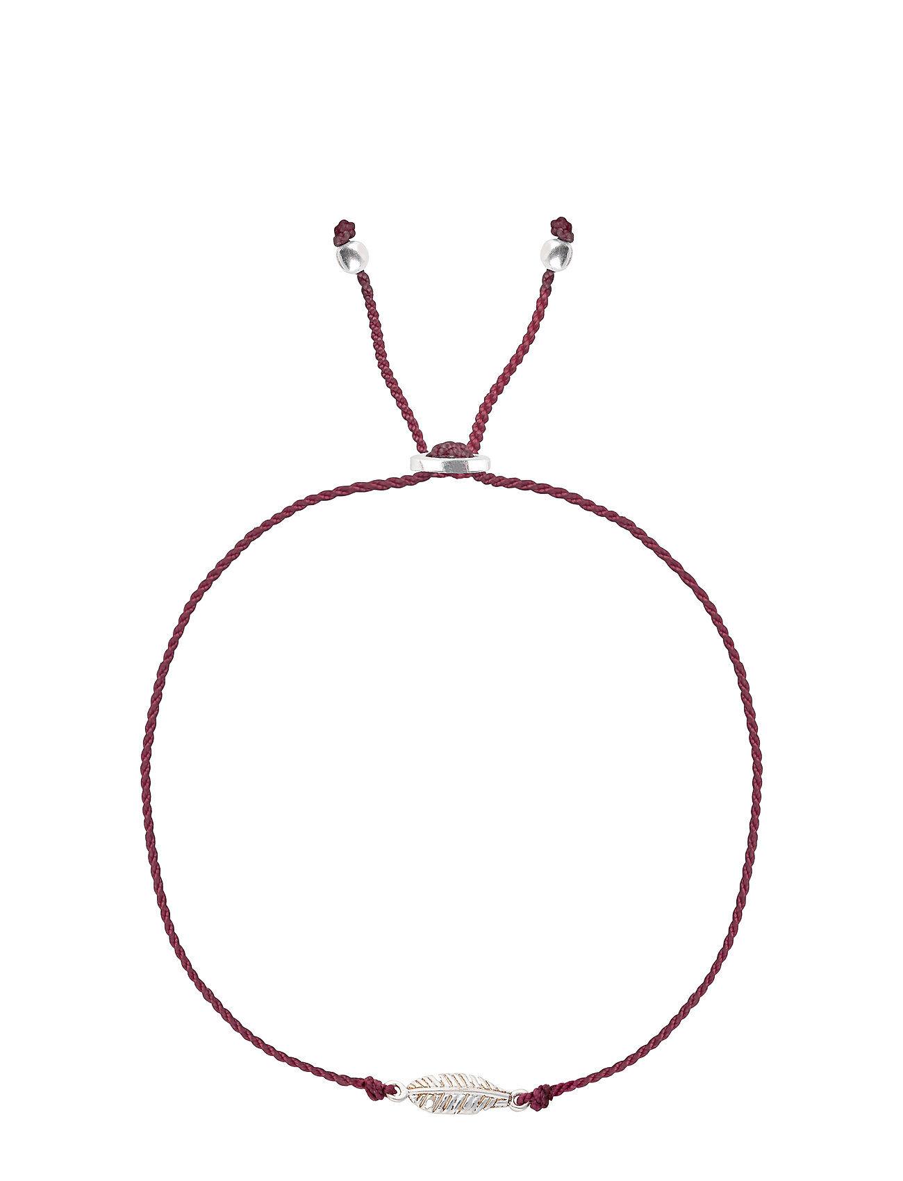 Syster P Sparkle Bracelet Feather Silver Grape Accessories Jewellery Bracelets Chain Bracelets Vaaleanpunainen Syster P