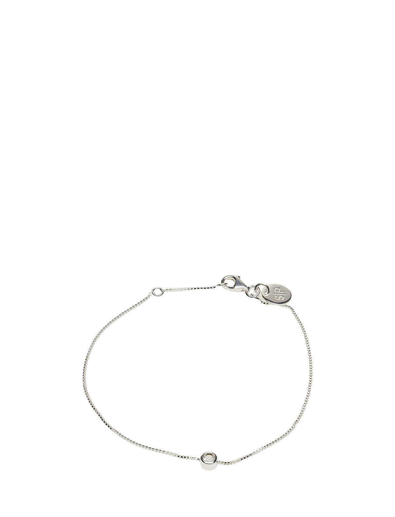 Syster P Minimalistica Solo Bracelet Silver Crystal Accessories Jewellery Bracelets Chain Bracelets Hopea Syster P