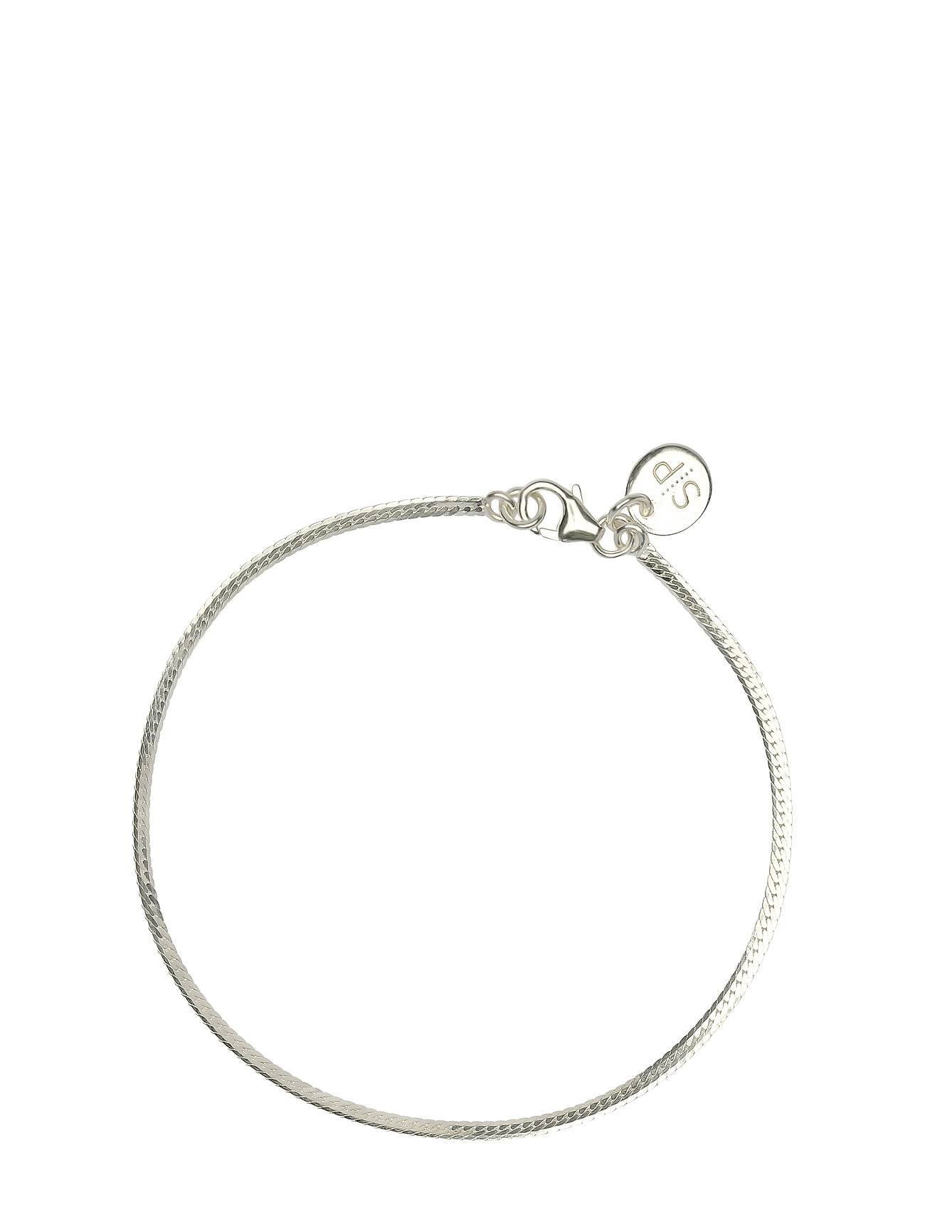 Syster P Herringb Bracelet Silver Accessories Jewellery Bracelets Chain Bracelets Hopea Syster P