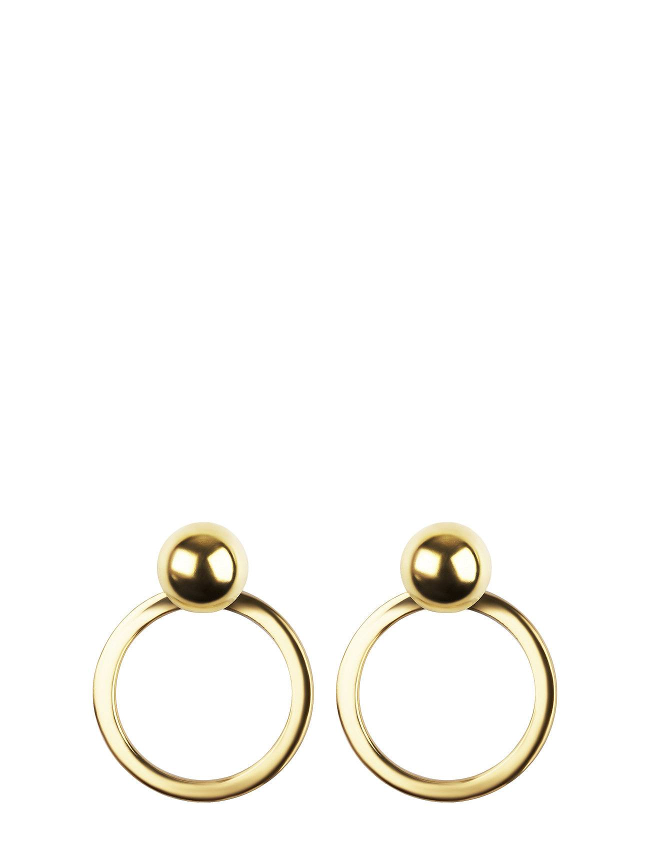 Syster P Planet Earrings Gold Gold Accessories Jewellery Earrings Studs Kulta Syster P