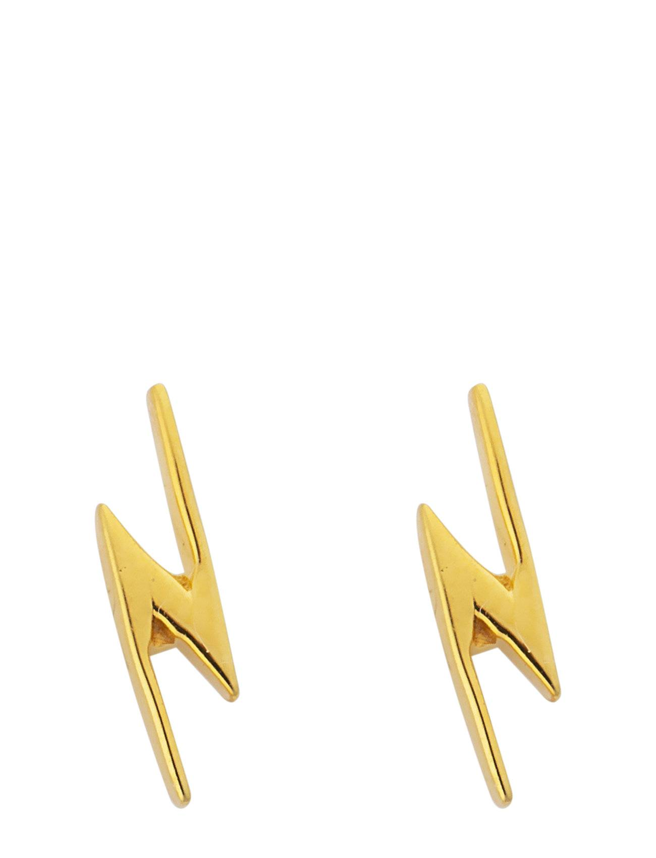 Syster P Snap Earrings Flash Gold Accessories Jewellery Earrings Studs Kulta Syster P