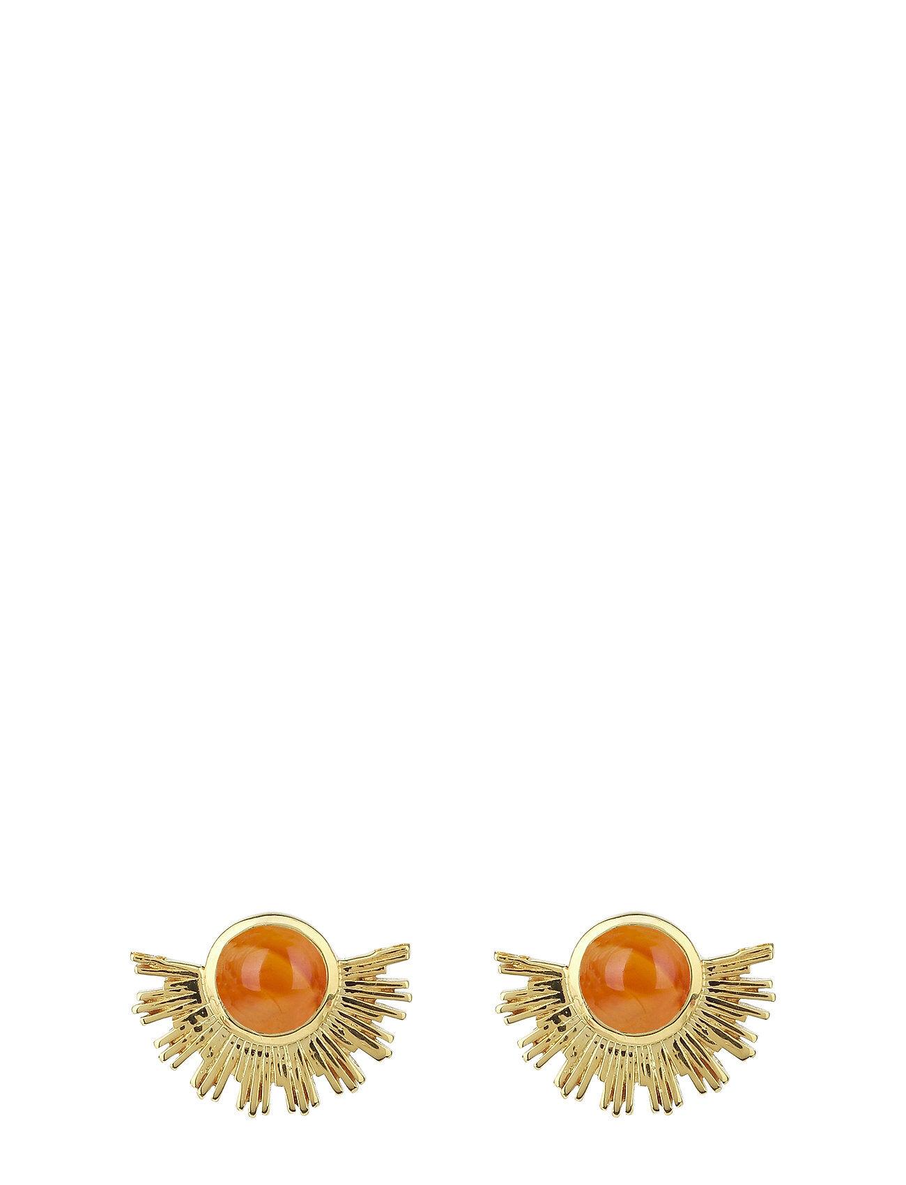 Syster P Sunburst Earrings Gold Accessories Jewellery Earrings Studs Kulta Syster P