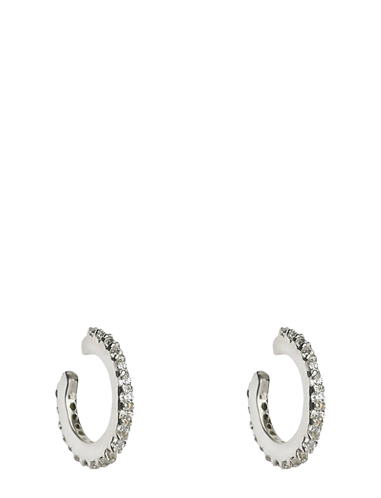 Syster P Mini Cuff Earrings Silver Accessories Jewellery Earrings Hoops Hopea Syster P