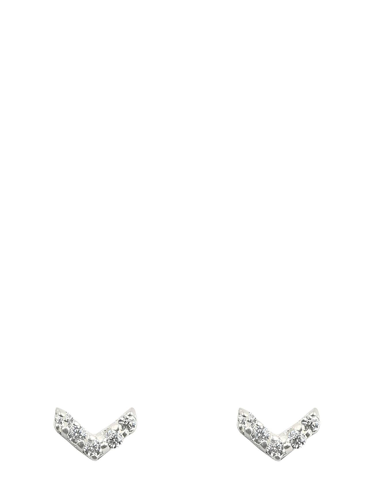 Syster P Mini Stud Double Arrow Earrings Silver Accessories Jewellery Earrings Studs Hopea Syster P