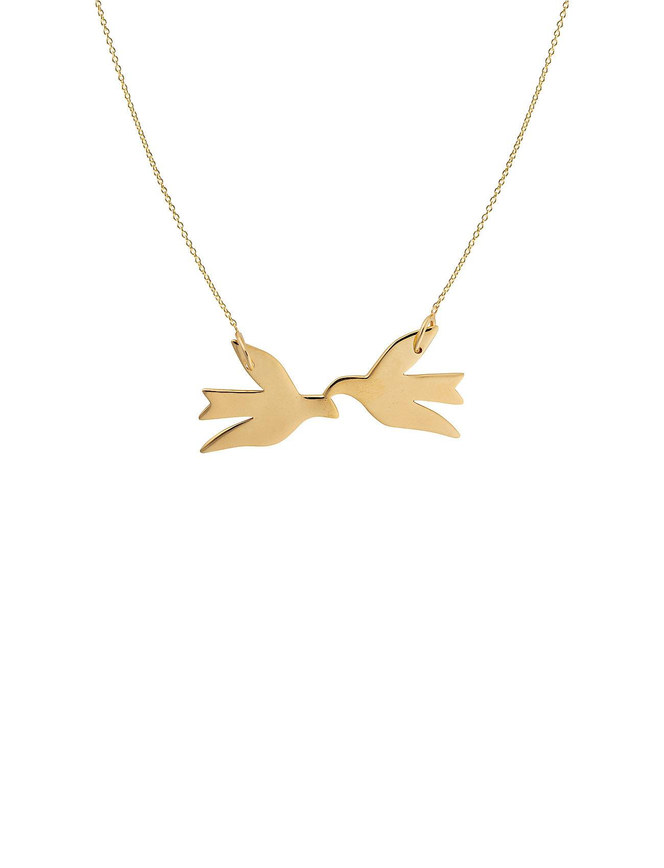Syster P Birdy Necklace Gold Accessories Jewellery Necklaces Dainty Necklaces Kulta Syster P
