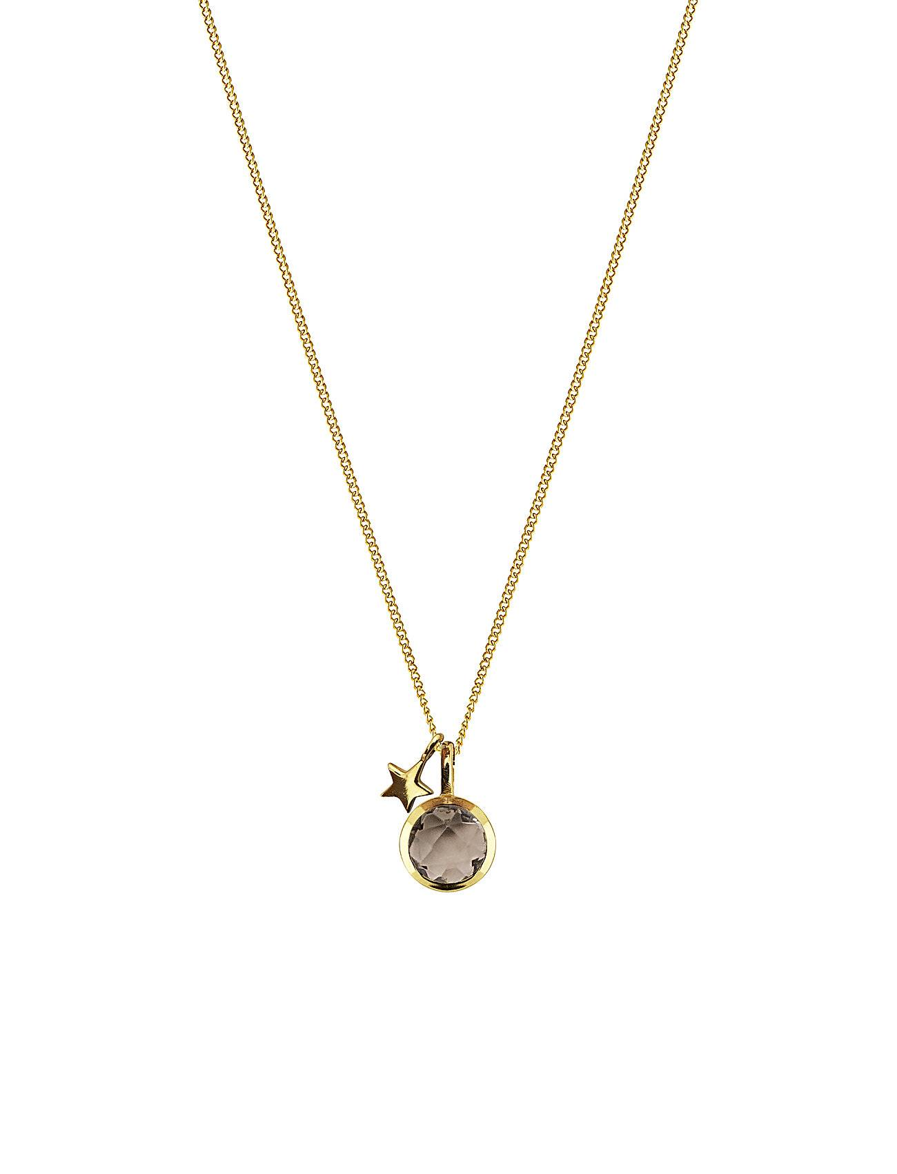 Syster P Priscilla Necklace Gold Smokey Accessories Jewellery Necklaces Dainty Necklaces Kulta Syster P