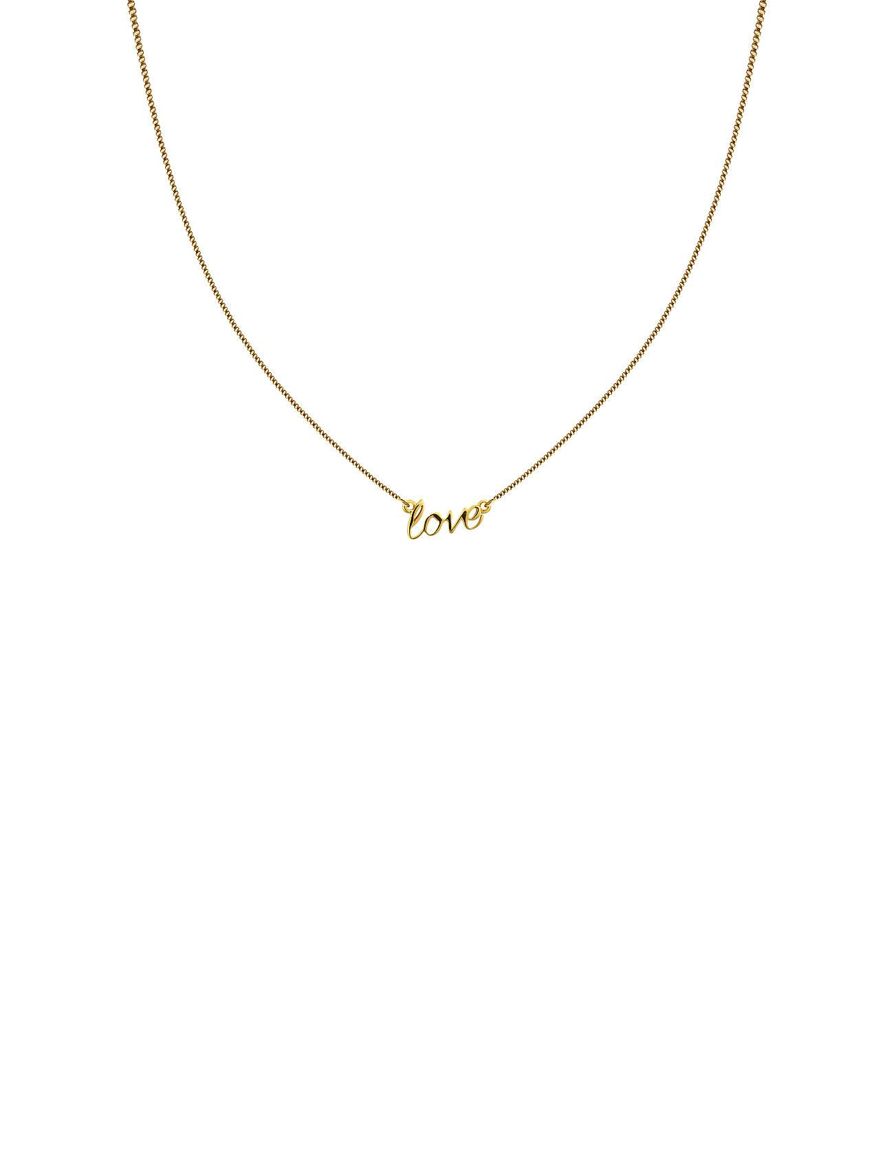 Syster P Snap Necklace Love Gold Accessories Jewellery Necklaces Dainty Necklaces Kulta Syster P