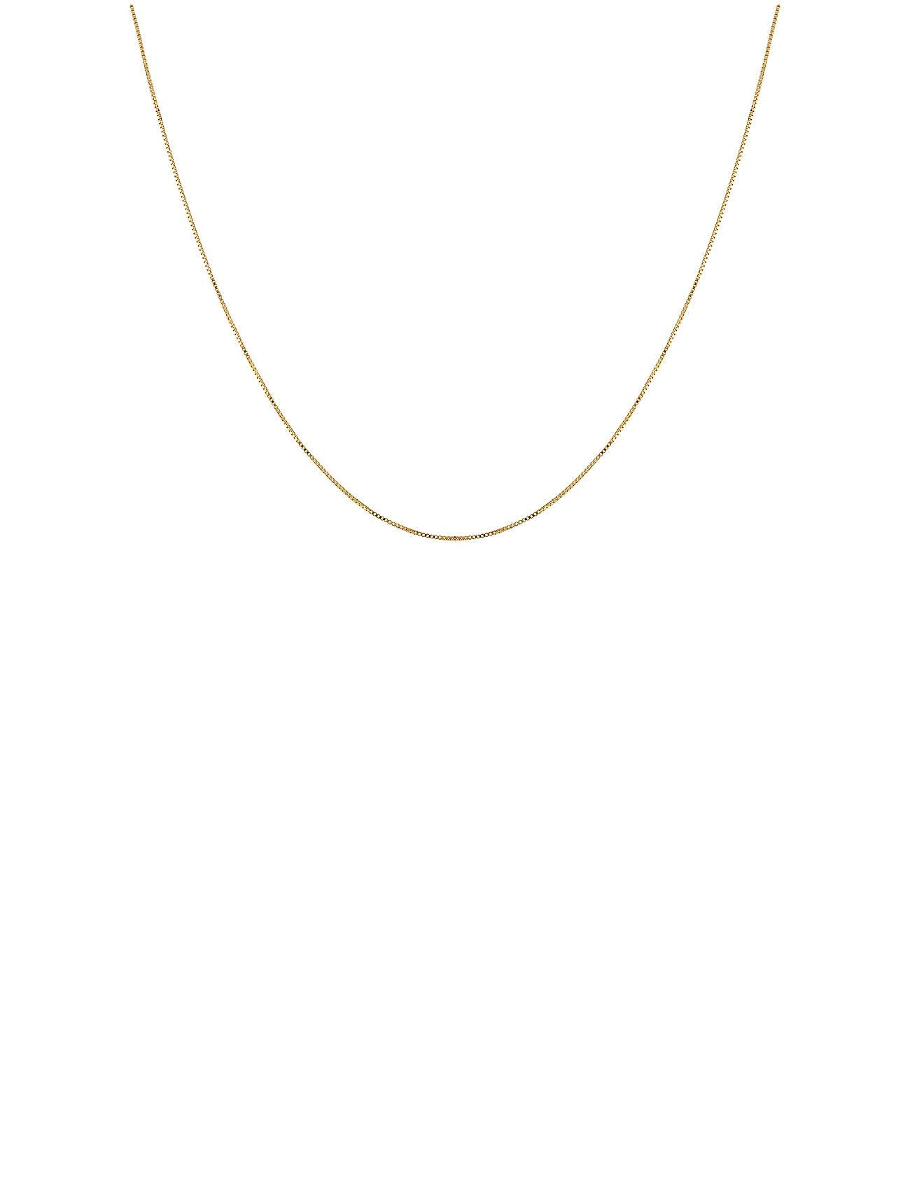 Syster P Beloved Long Box Chain Gold Accessories Jewellery Necklaces Dainty Necklaces Kulta Syster P