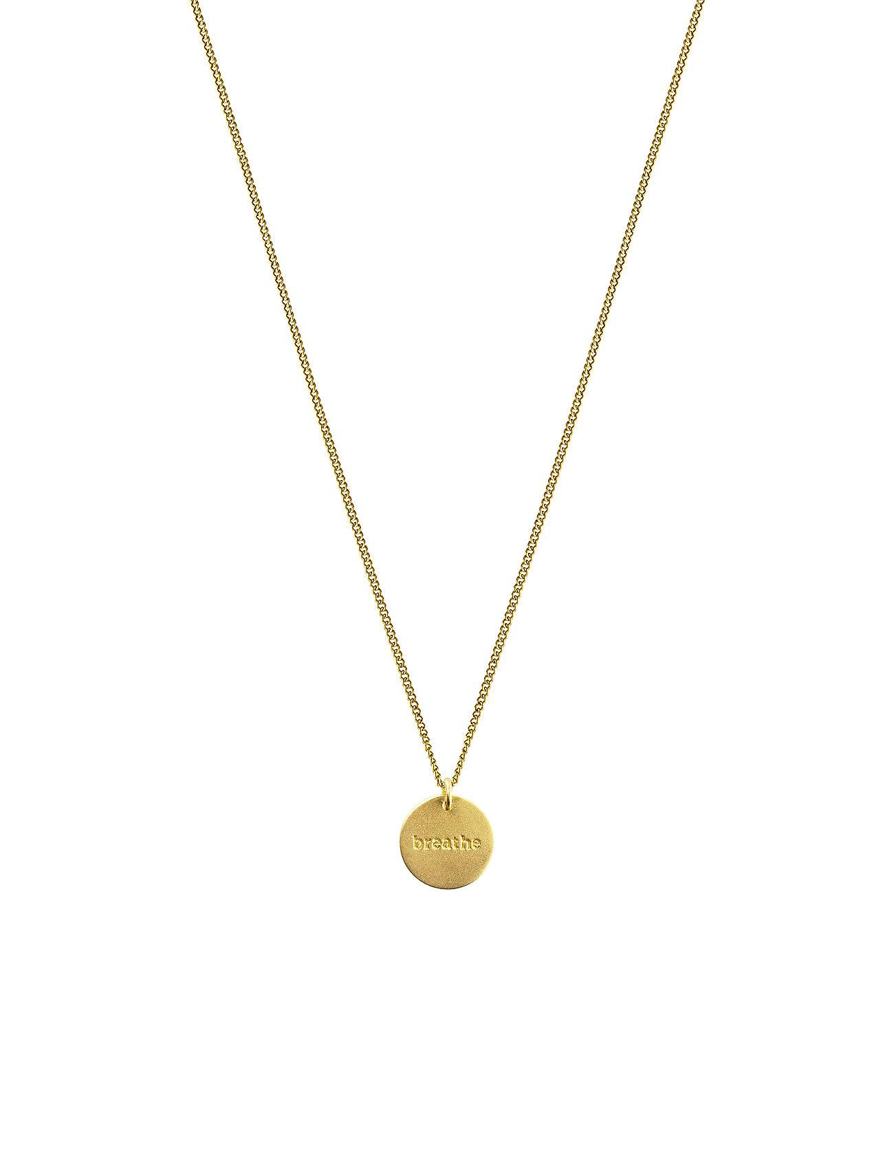 Syster P Minimalistica Breathe Necklace Gold Accessories Jewellery Necklaces Dainty Necklaces Kulta Syster P