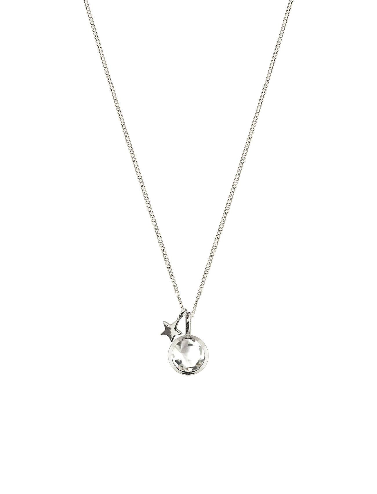 Syster P Priscilla Necklace Silver Crystal Accessories Jewellery Necklaces Dainty Necklaces Hopea Syster P