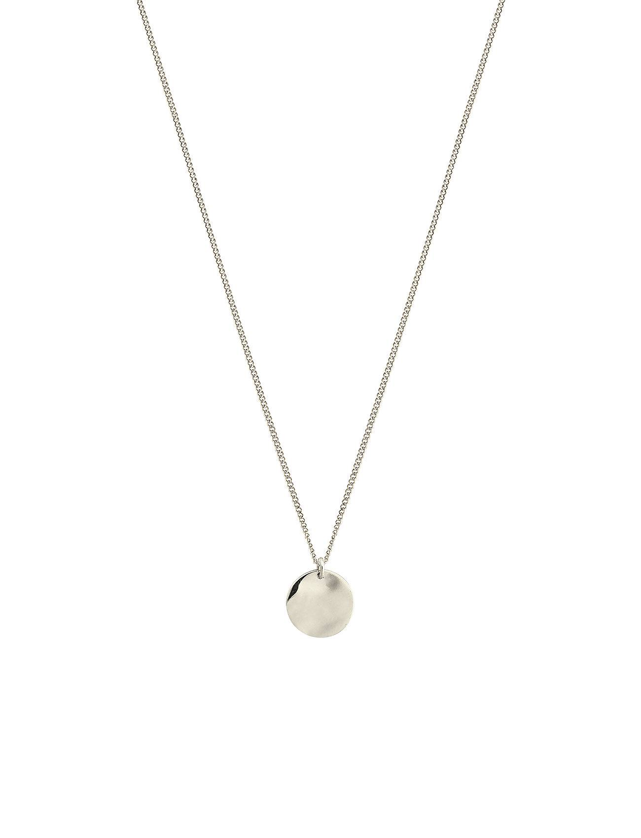 Syster P Minimalistica Hammered Circle Necklace Silver Accessories Jewellery Necklaces Dainty Necklaces Hopea Syster P