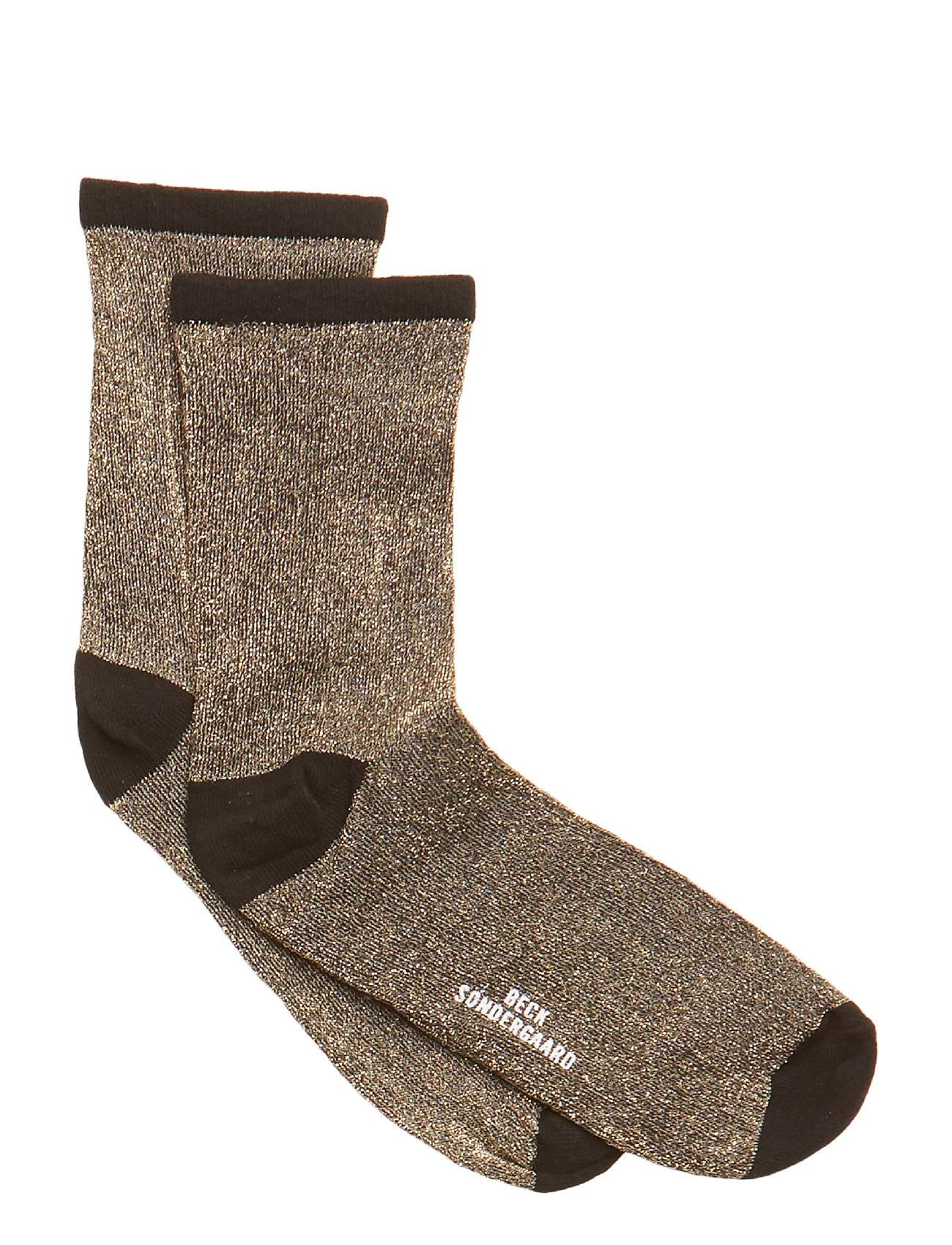 Becksöndergaard Dina Solid Lingerie Hosiery Socks Ruskea Becksöndergaard