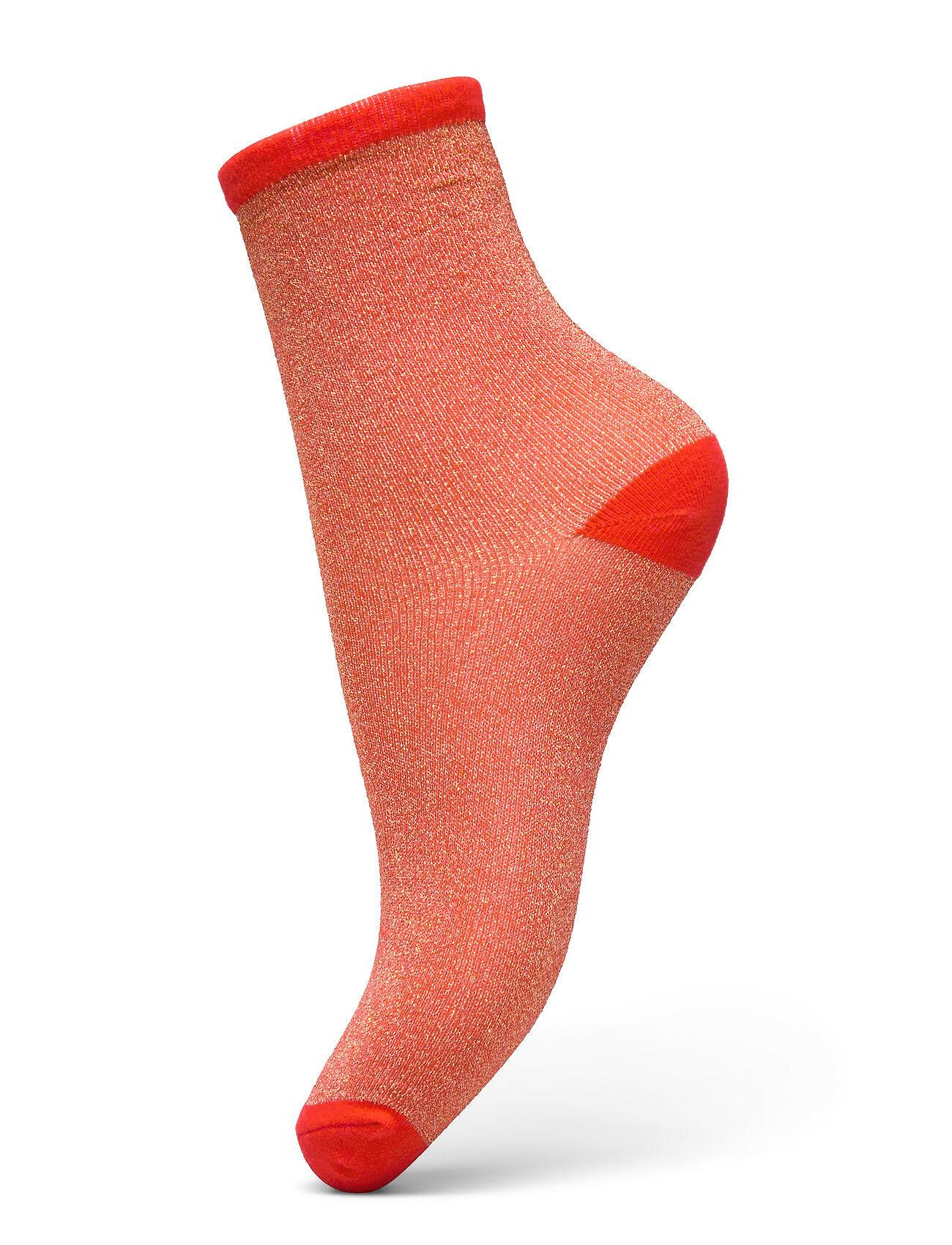 Becksöndergaard Dina Solid Lingerie Hosiery Socks Punainen Becksöndergaard