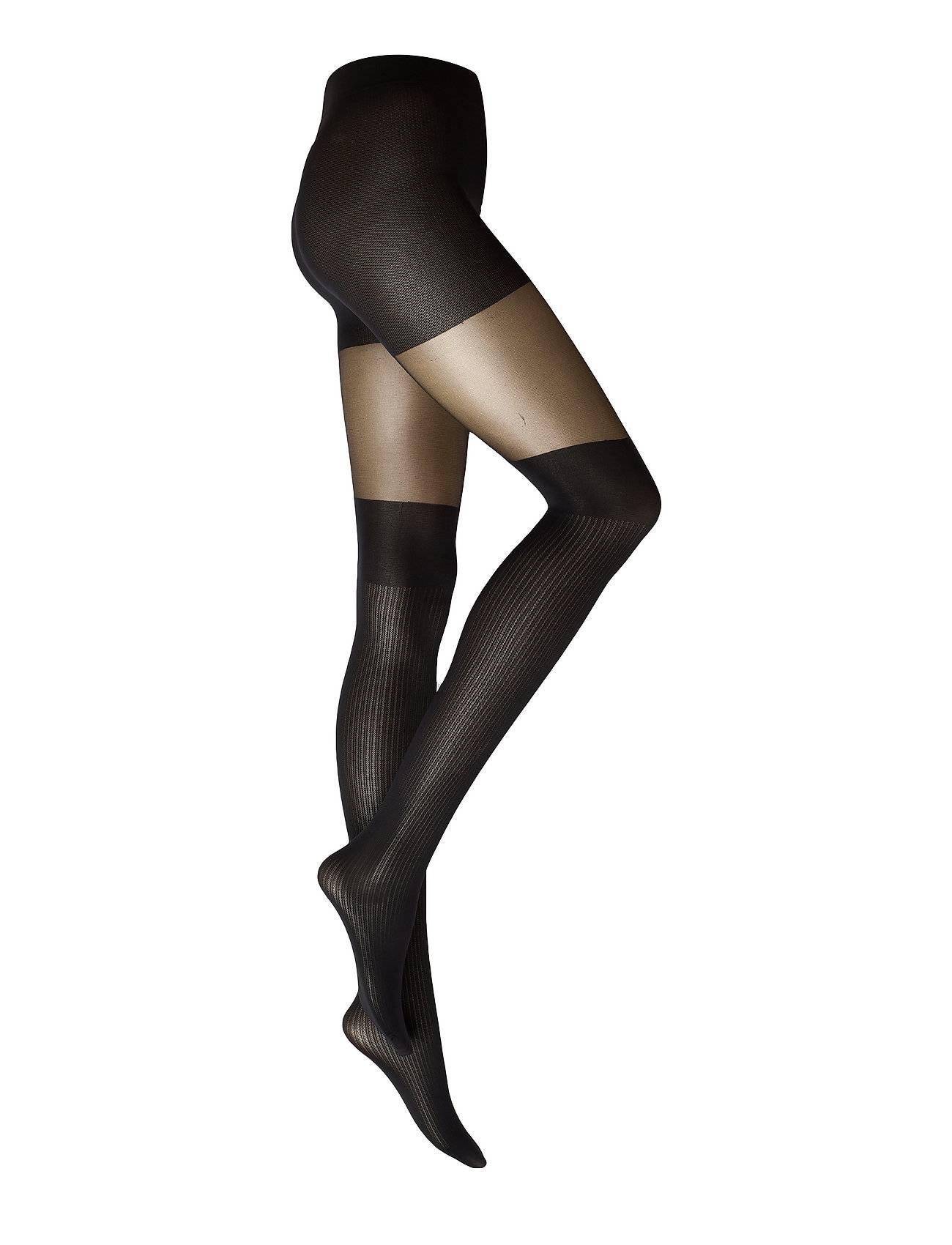 Swedish Stockings Dagmar Over-Knee Tights 20/80 Den Sukkahousut Musta Swedish Stockings