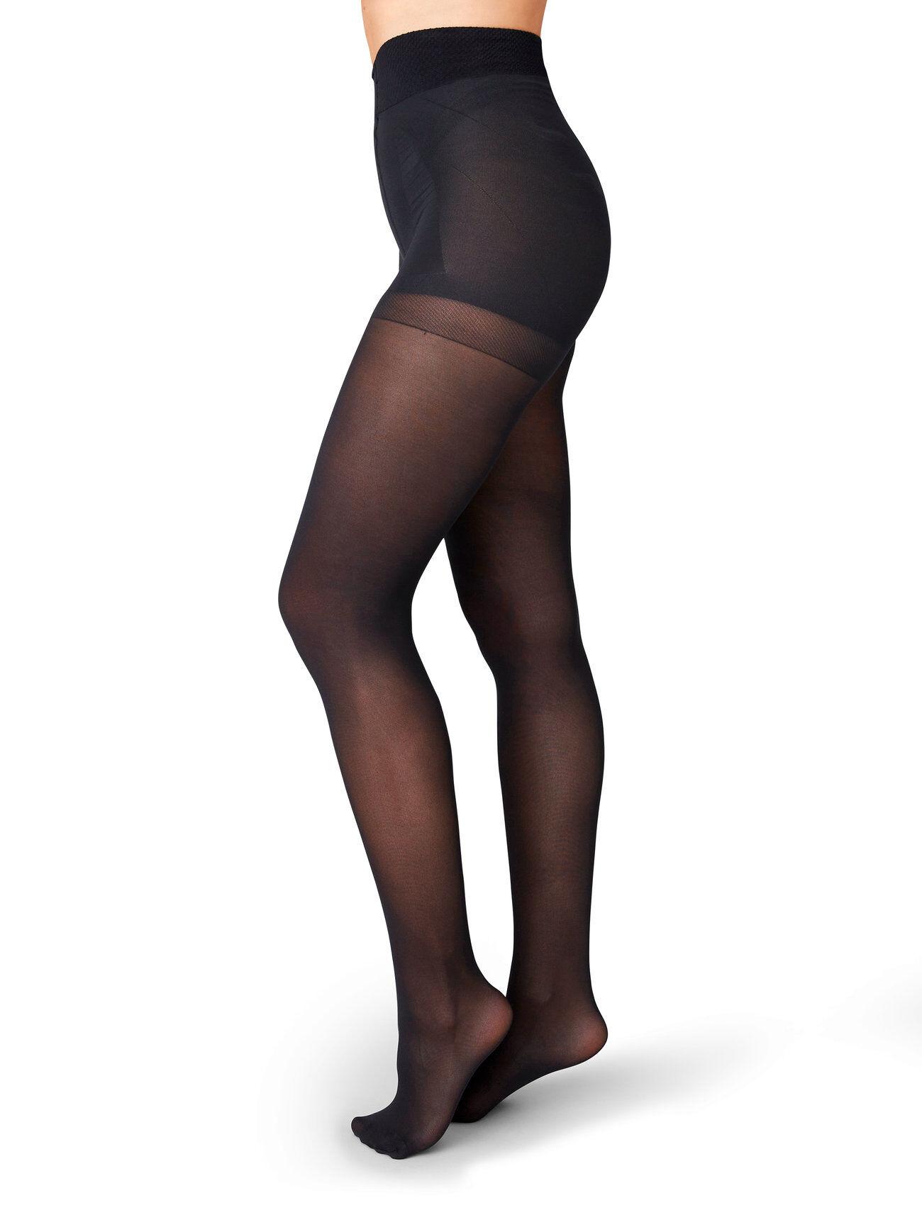 Swedish Stockings Anna Control Top Tights 40d Sukkahousut Musta Swedish Stockings