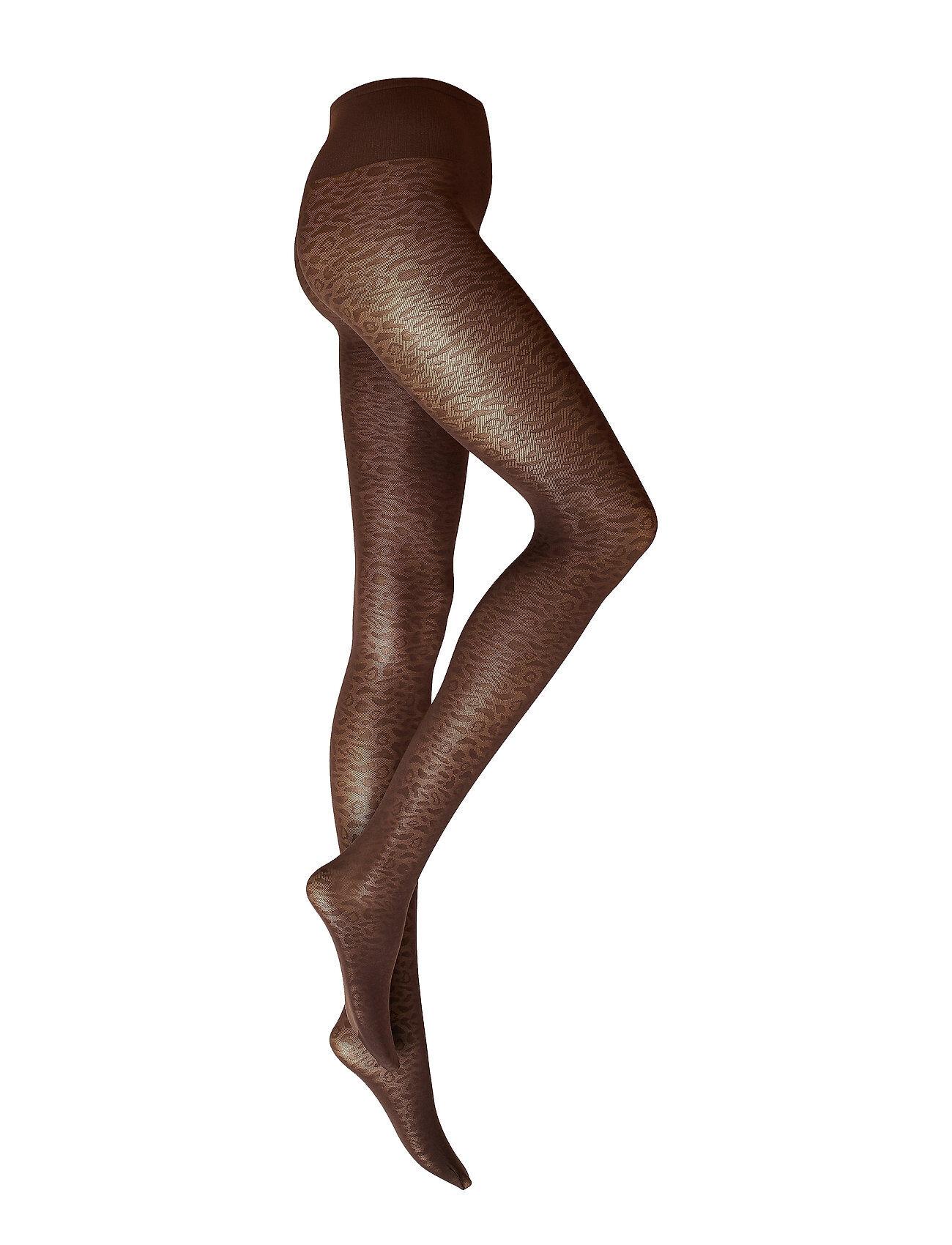 Swedish Stockings Emma Leopard Tights Sukkahousut Ruskea Swedish Stockings