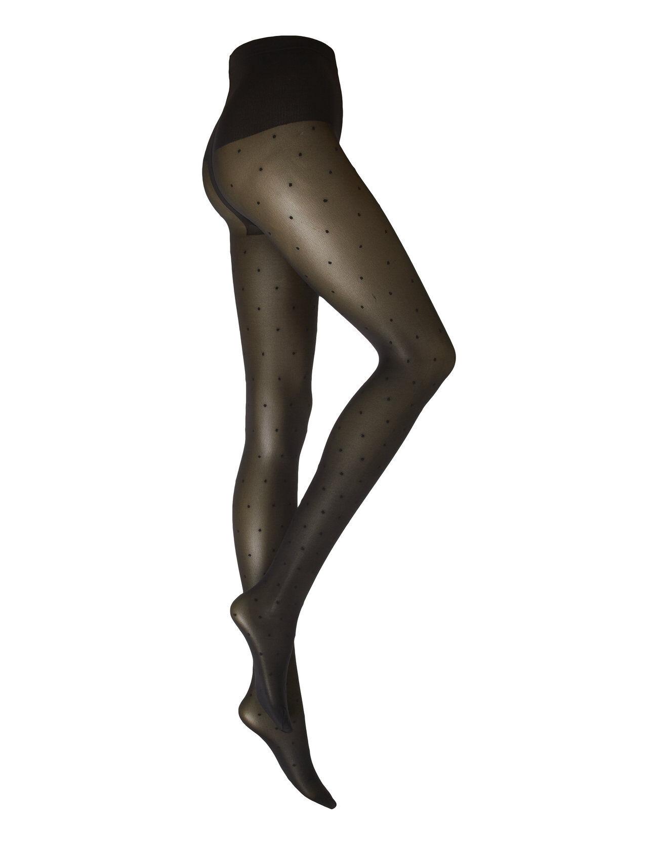 Swedish Stockings Doris Dots Tights 40d Sukkahousut Musta Swedish Stockings