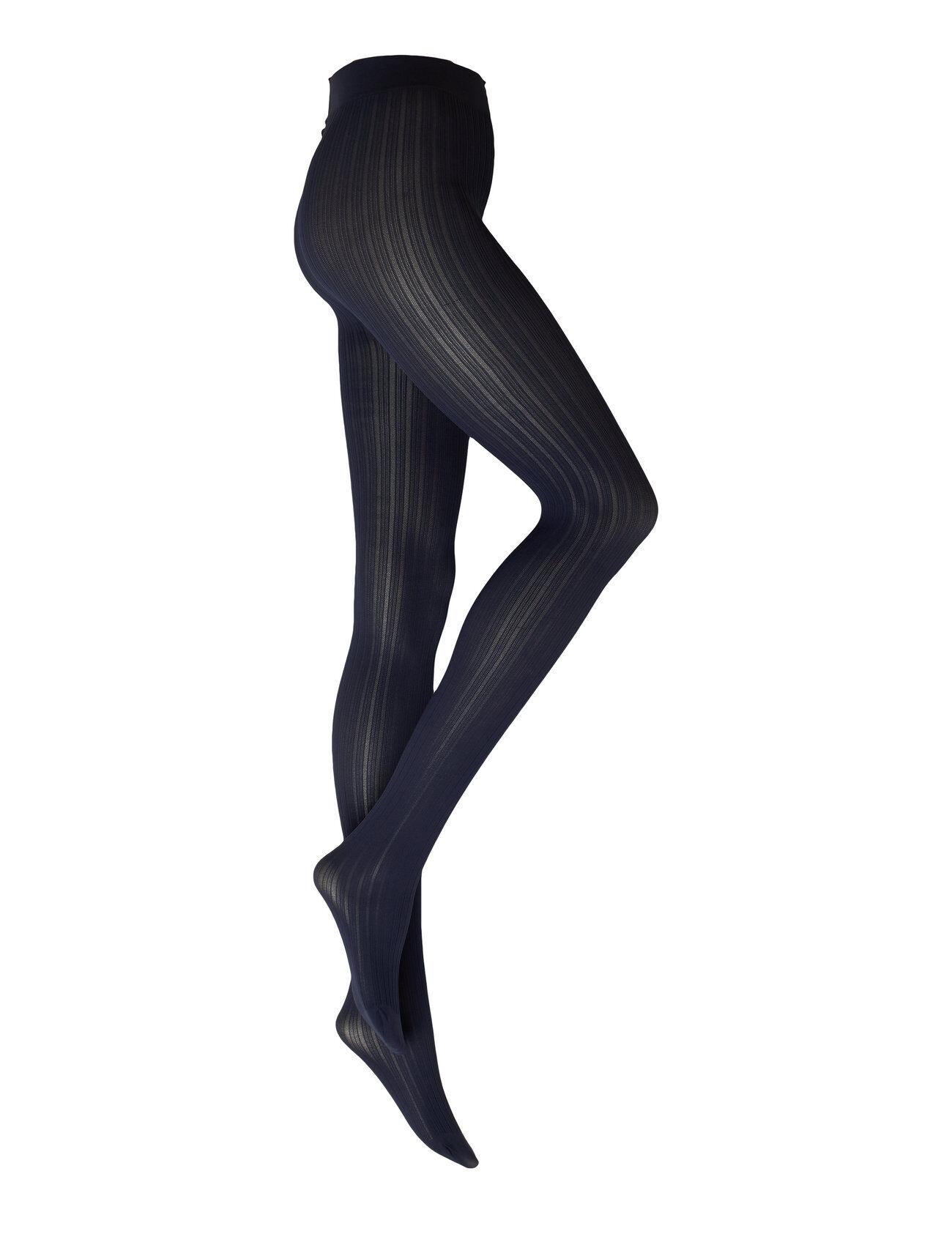 Swedish Stockings Alma Rib Tights 60d Sukkahousut Sininen Swedish Stockings