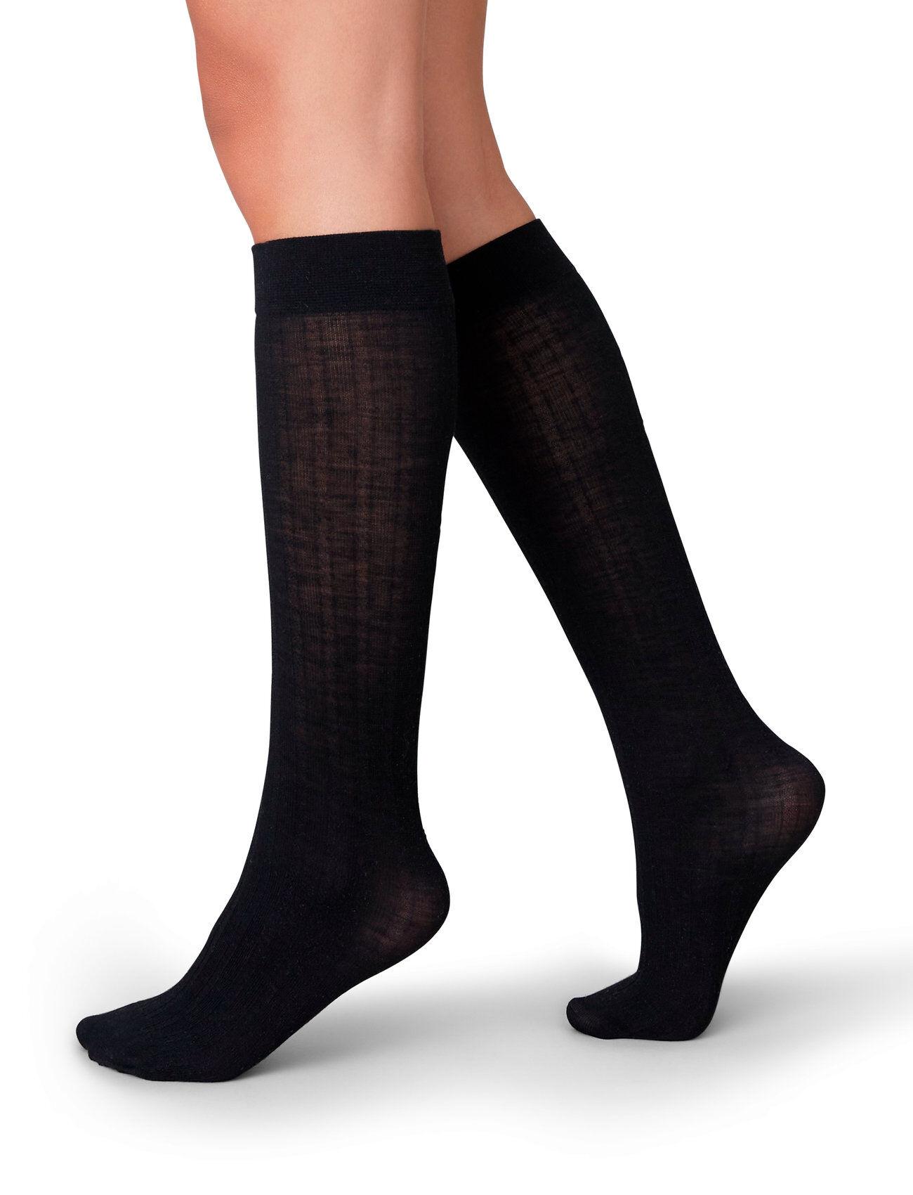 Swedish Stockings Freja Knee-High Lingerie Hosiery Knee High Socks Musta Swedish Stockings