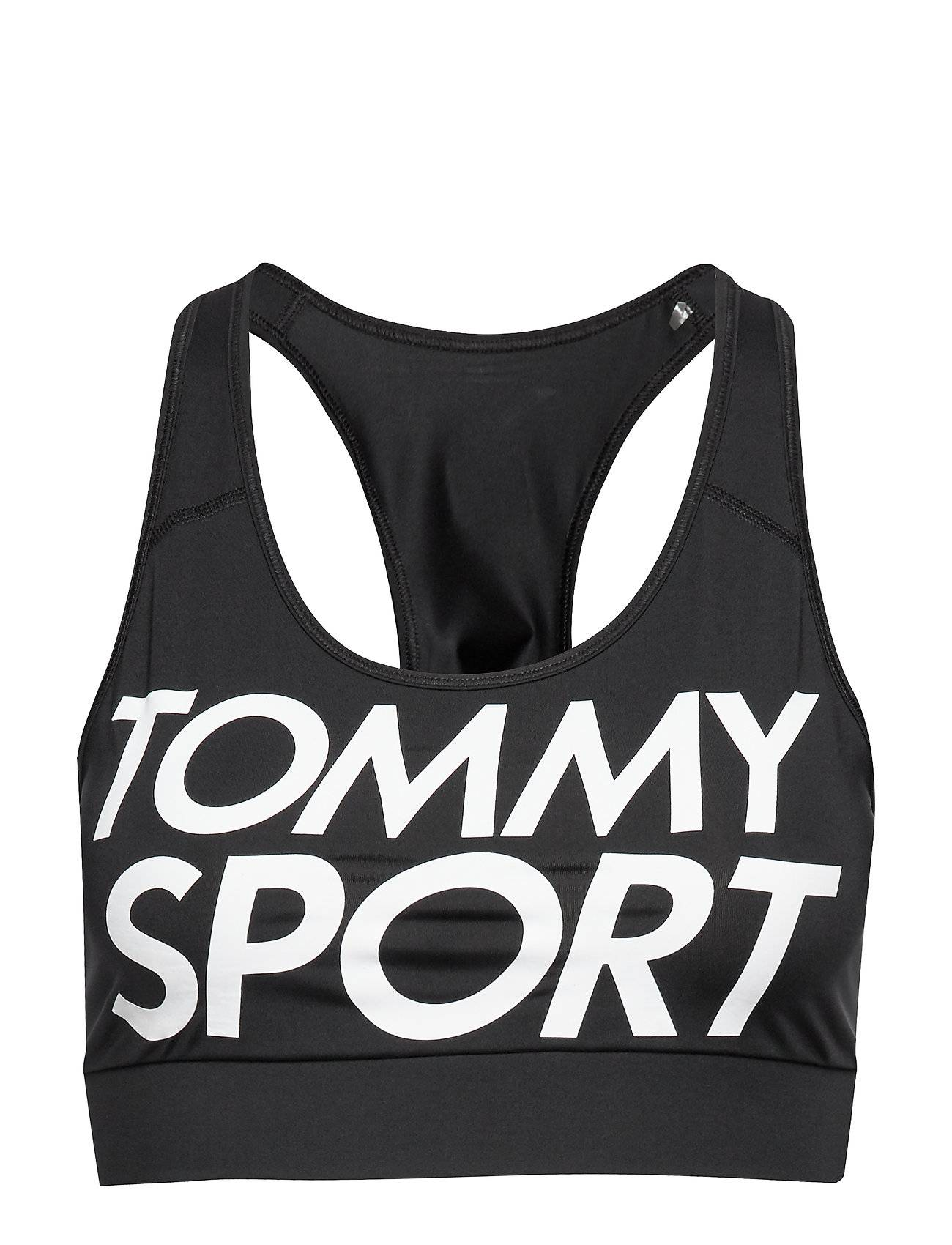 Image of Tommy Sport Sports Bra Logo Mid Lingerie Bras & Tops Sports Bras - ALL Musta Tommy Sport