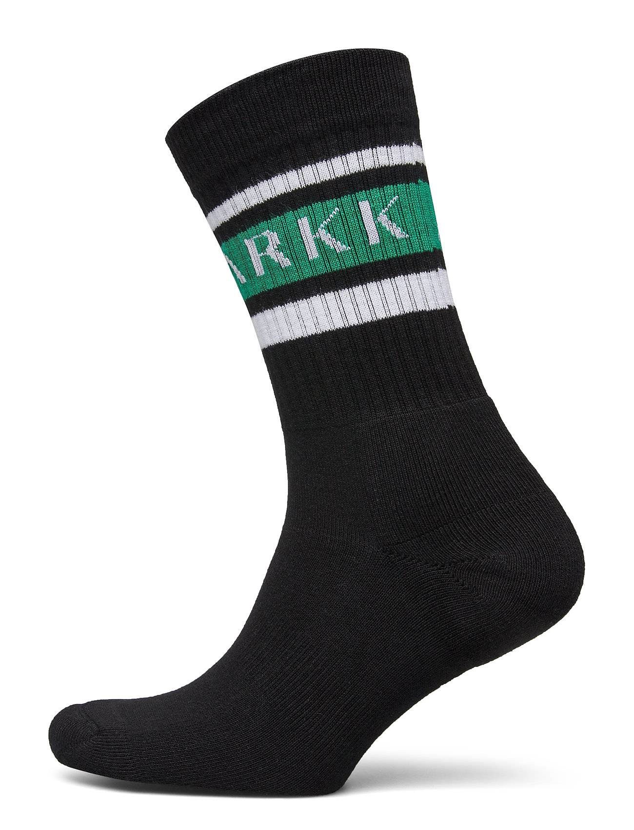 ARKK Copenhagen The High Sock - Striped Black Soft Underwear Socks Regular Socks Musta ARKK Copenhagen