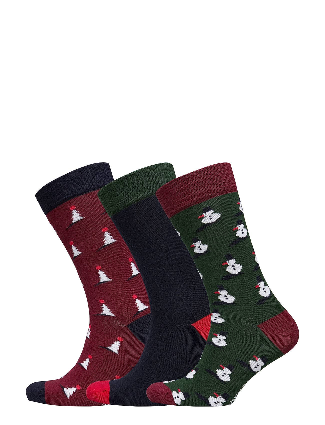 Björn Borg G Sock Bb X-Mas-Tree Xmas-Box 3p Underwear Socks Regular Socks Monivärinen/Kuvioitu Björn Borg