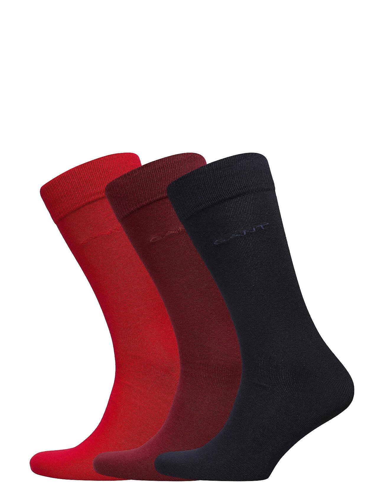 GANT 3-Pack Soft Cotton Socks Underwear Socks Regular Socks Punainen GANT