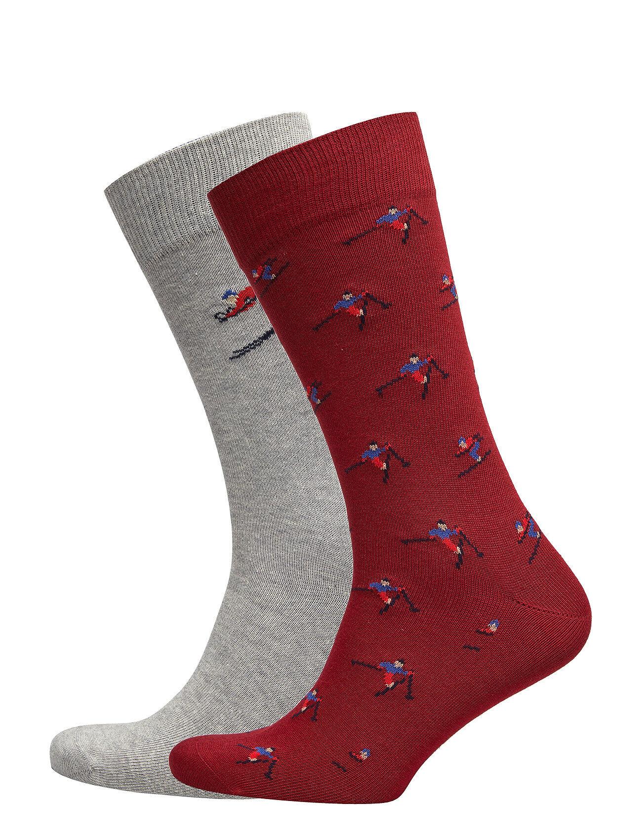 GANT O1. 2-Pack Apres Ski Gift Box Underwear Socks Regular Socks Punainen GANT