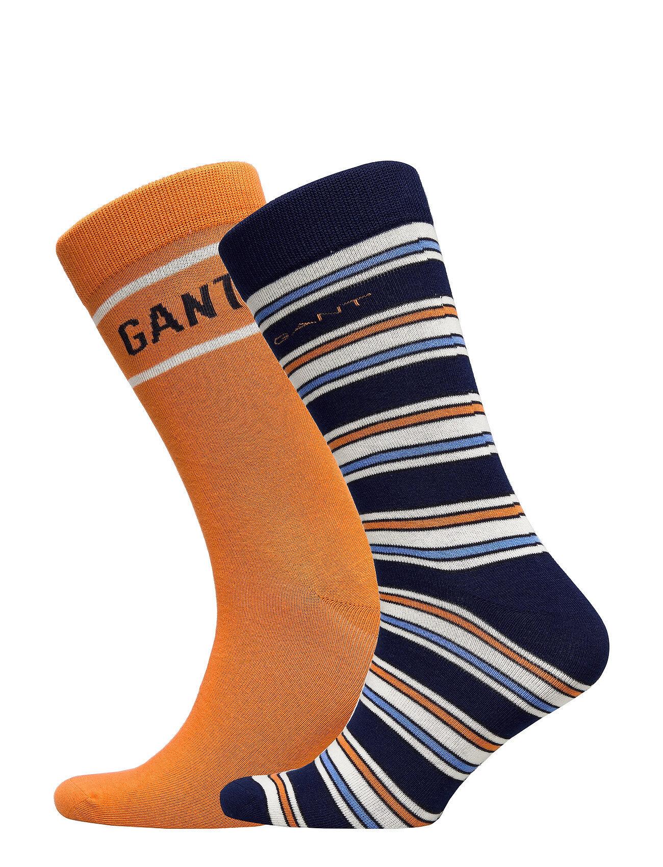 GANT D1. Stripe And Logo Sock Giftbox Underwear Socks Regular Socks Oranssi GANT