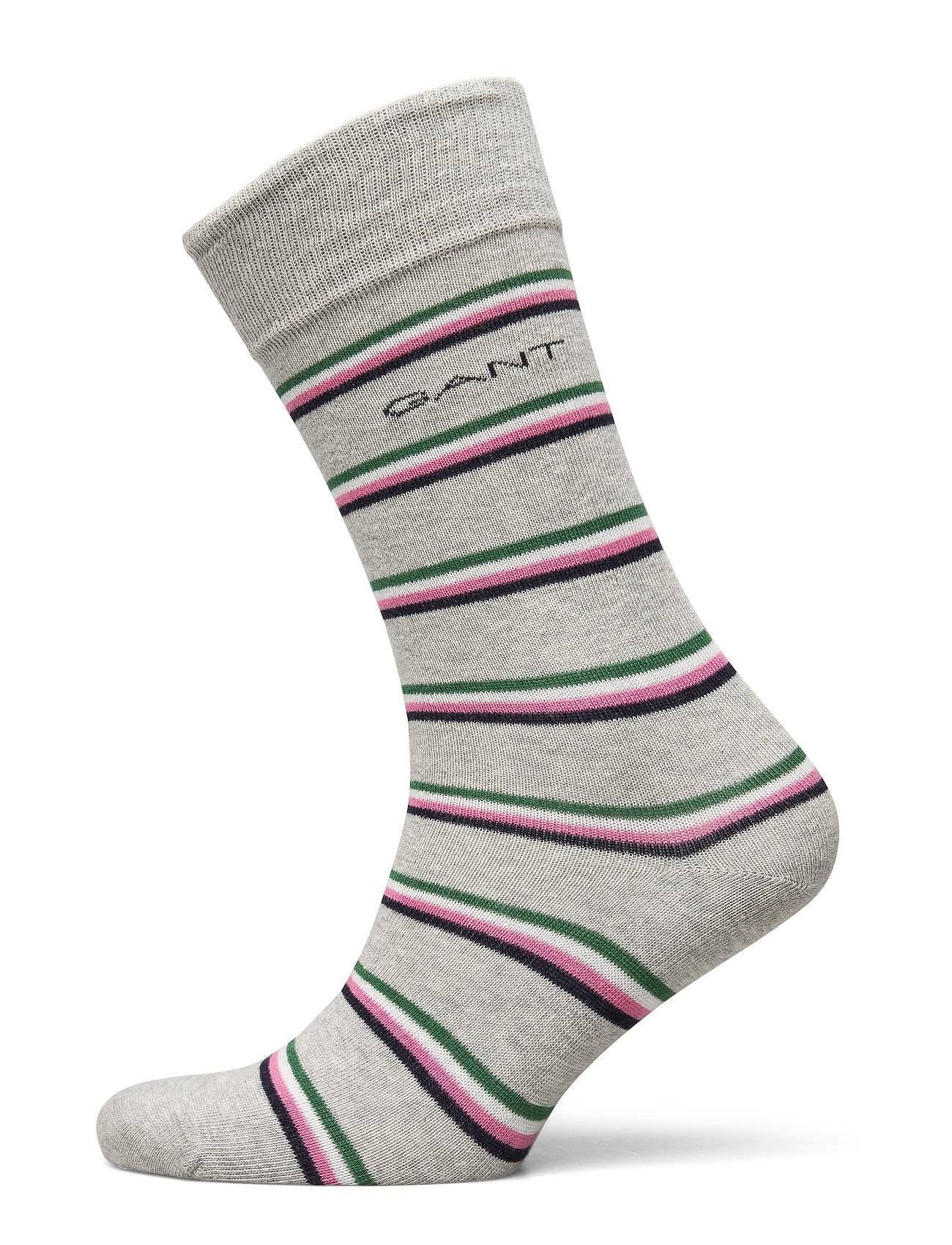 GANT D1. 1 Pack Multi Stripe Underwear Socks Regular Socks Harmaa GANT