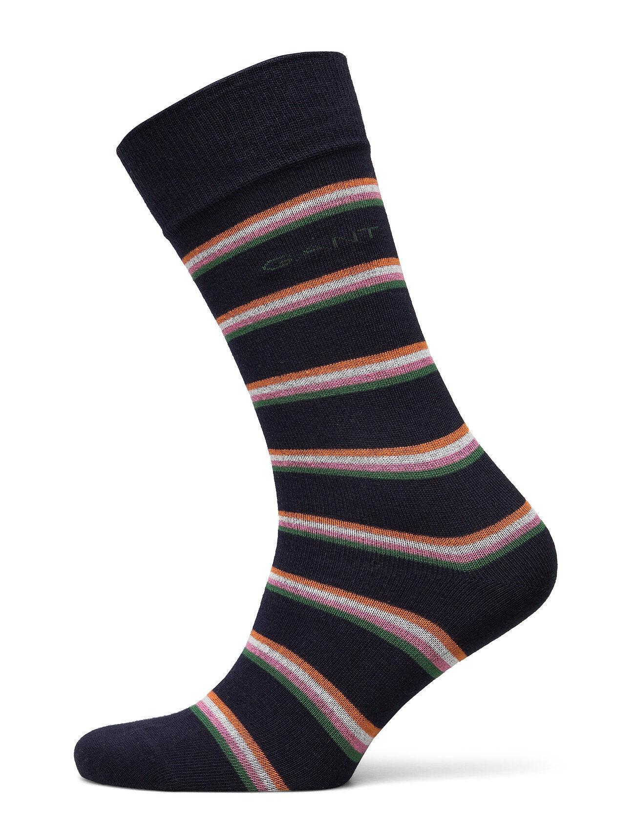 GANT D1. 1 Pack Multi Stripe Underwear Socks Regular Socks Sininen GANT