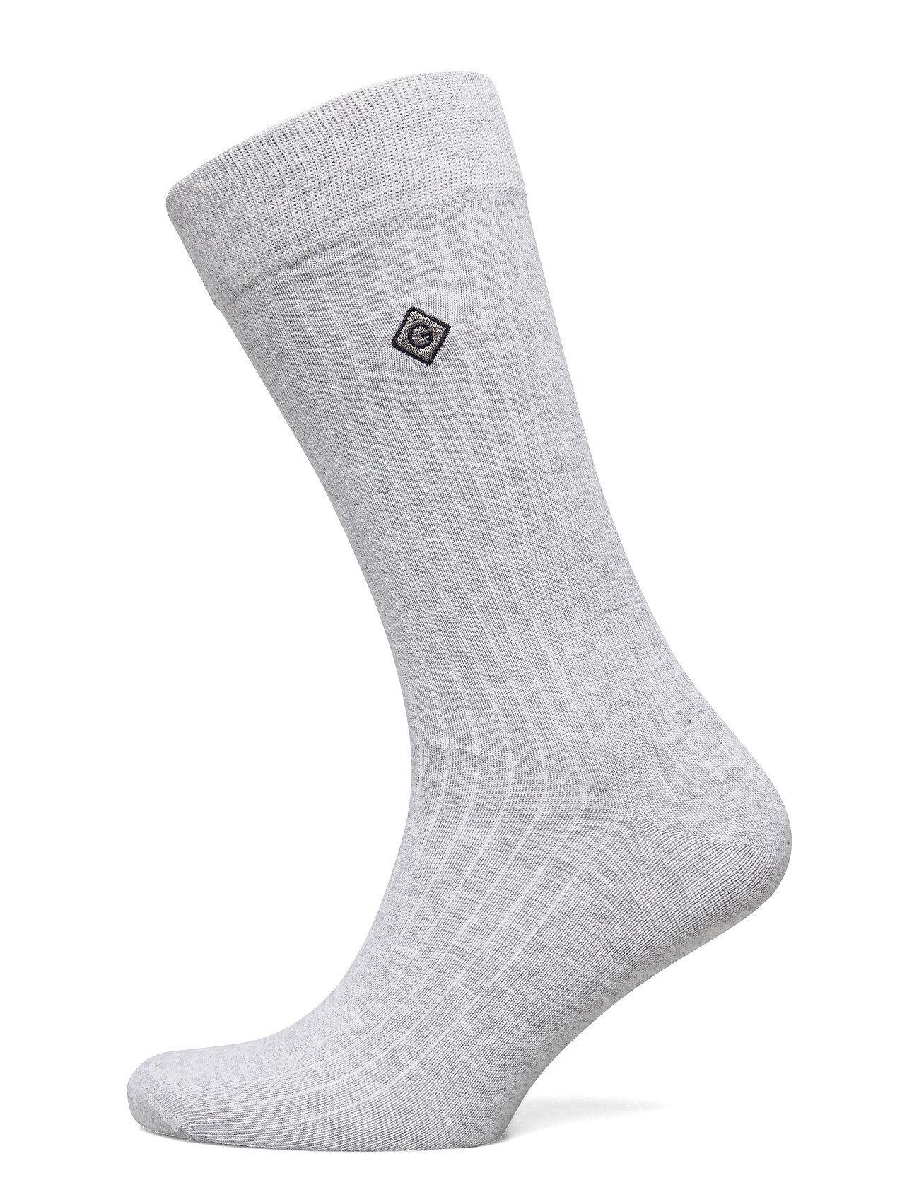 GANT D1. Solid Rib Sock Emb Socks Underwear Socks Regular Socks Harmaa GANT
