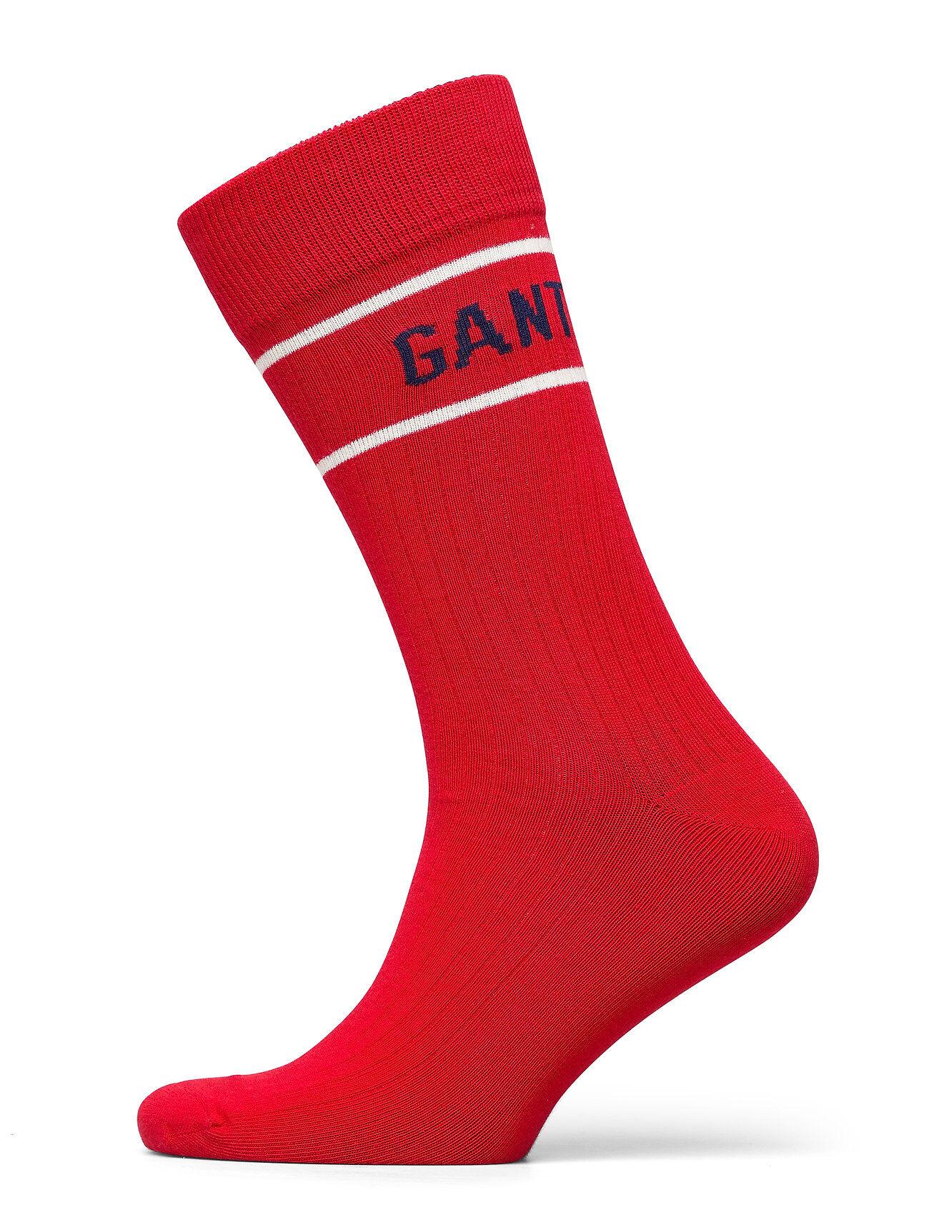 GANT D1. Logo Rib Sock Underwear Socks Regular Socks Punainen GANT