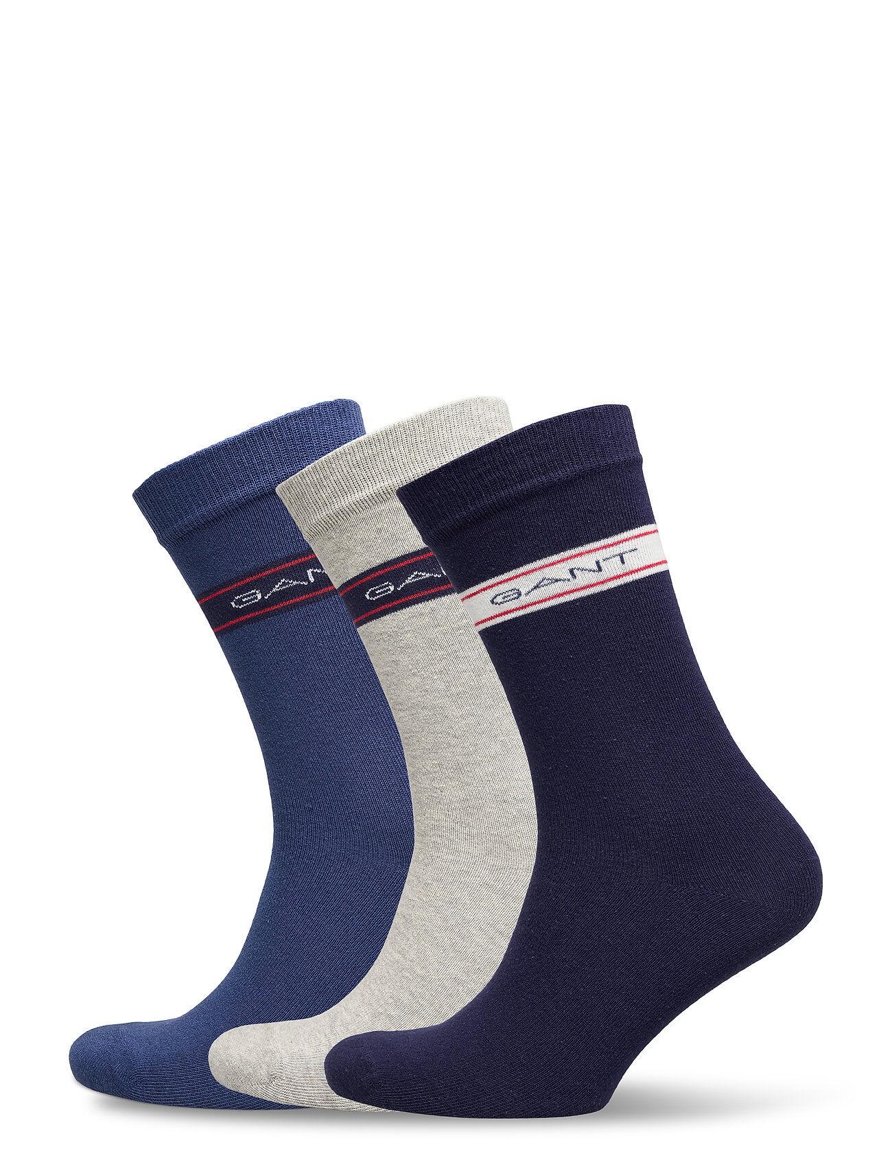 GANT D1. 3 Pack Archive Stripe Socks Underwear Socks Regular Socks Sininen GANT