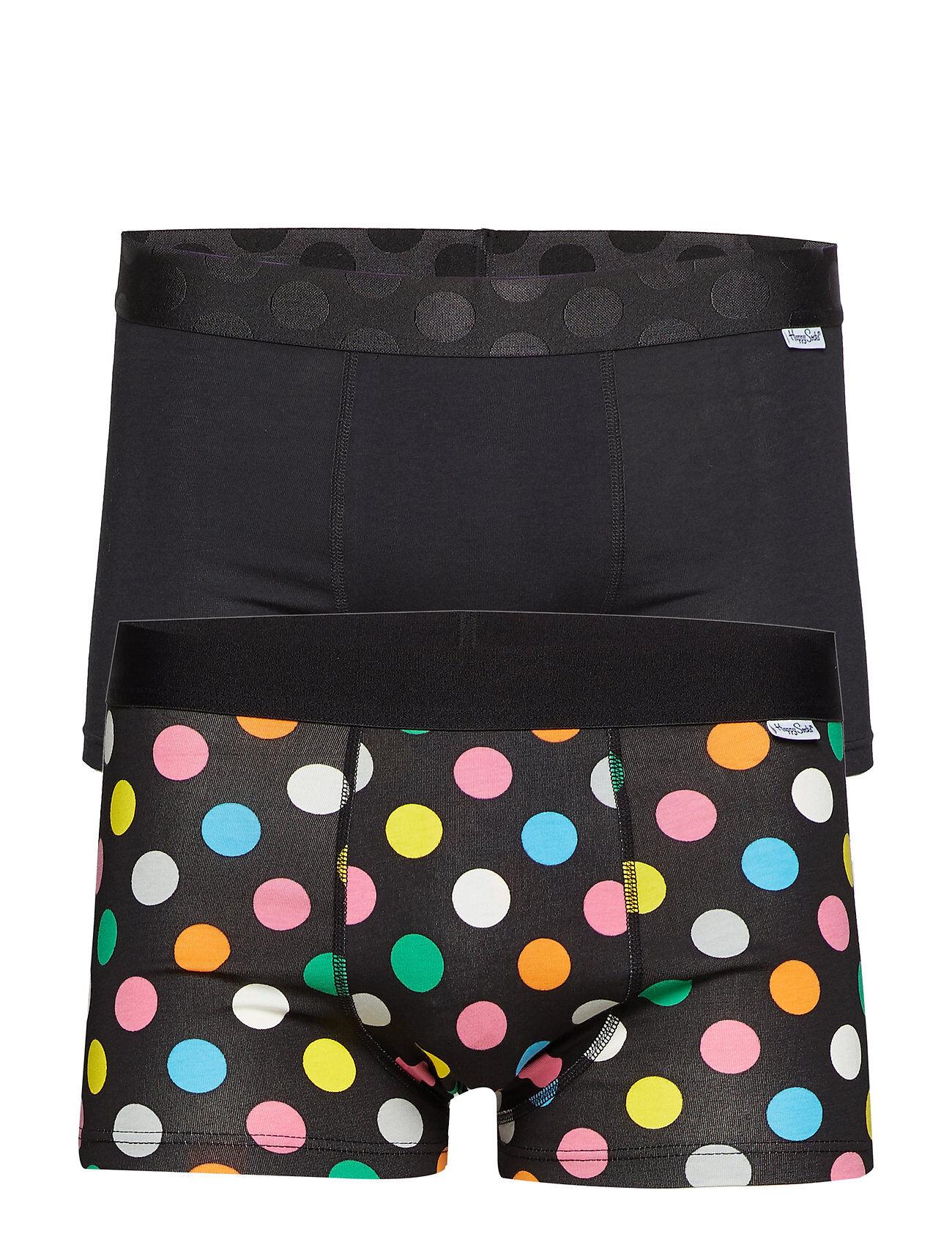 Happy Socks 2-Pack Big Dot Trunk Bokserit Musta Happy Socks