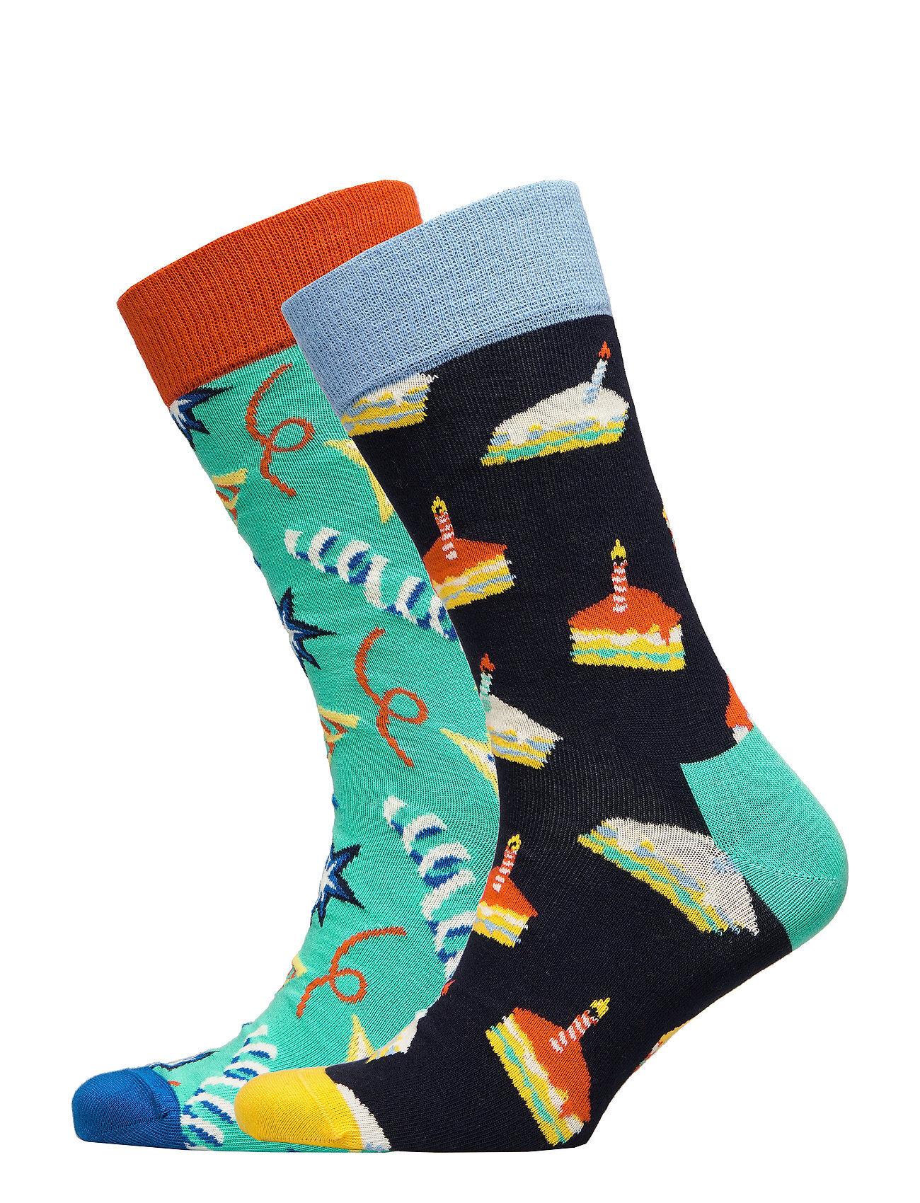 Happy Socks Birthday Gift Box Underwear Socks Regular Socks Monivärinen/Kuvioitu Happy Socks