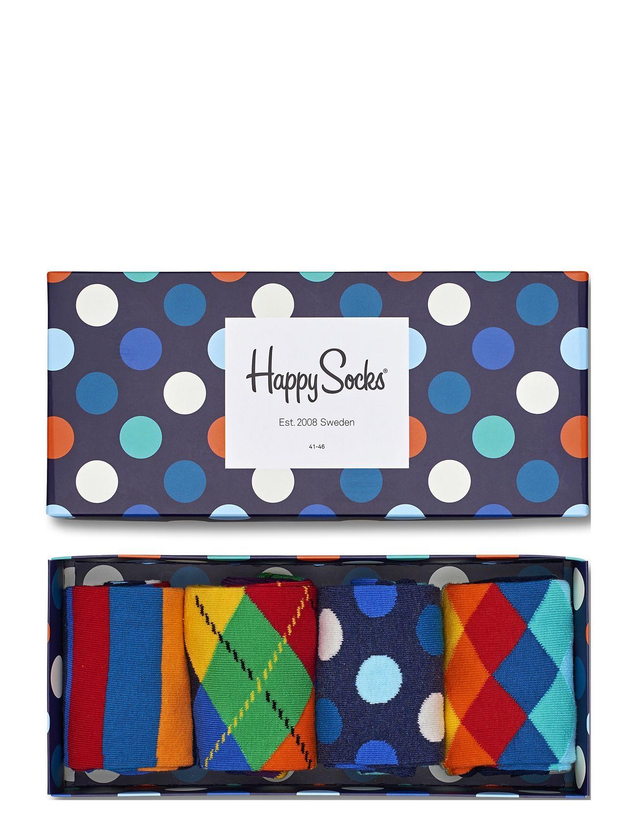 Happy Socks 4-Pack Multi-Color Socks Gift Set Underwear Socks Regular Socks Monivärinen/Kuvioitu Happy Socks