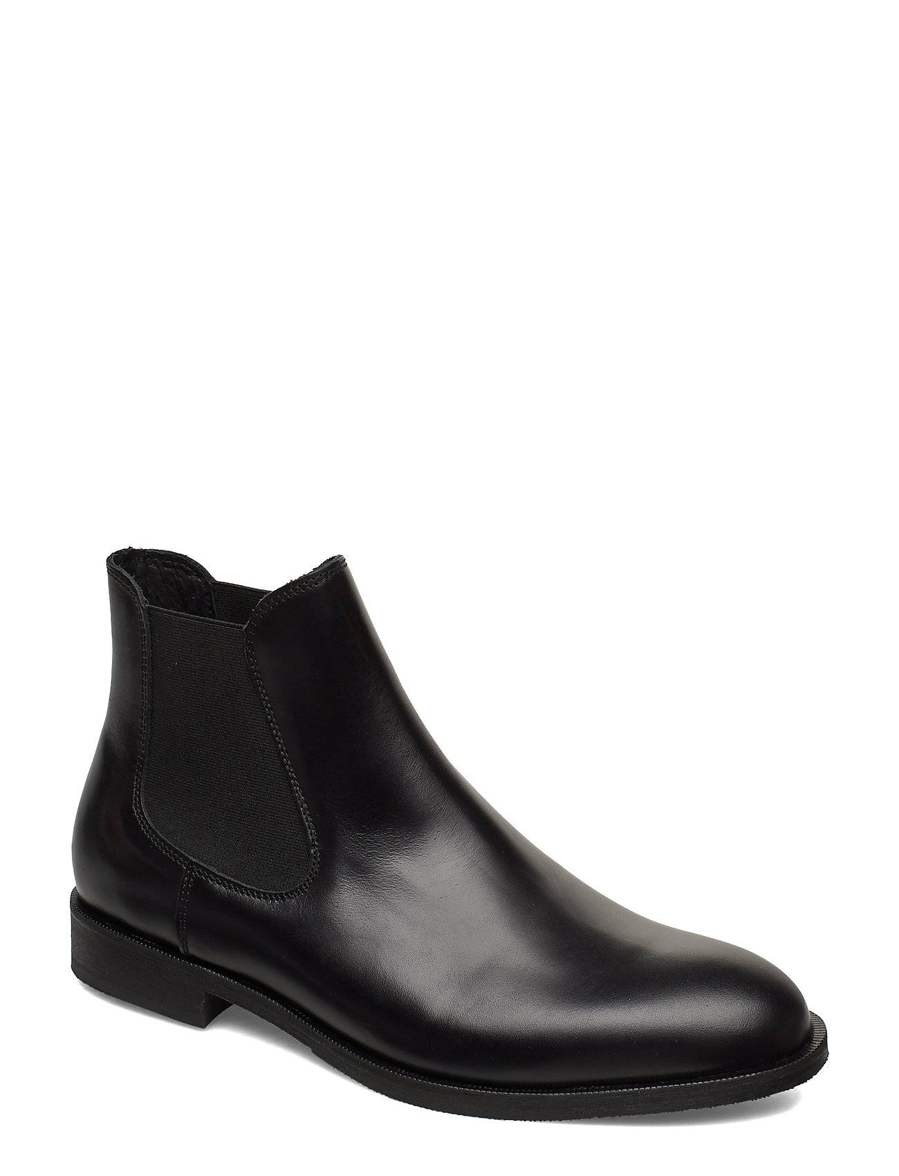 Selected Homme Slhlouis Leather Chelsea Boot B Noos Shoes Chelsea Boots Musta Selected Homme